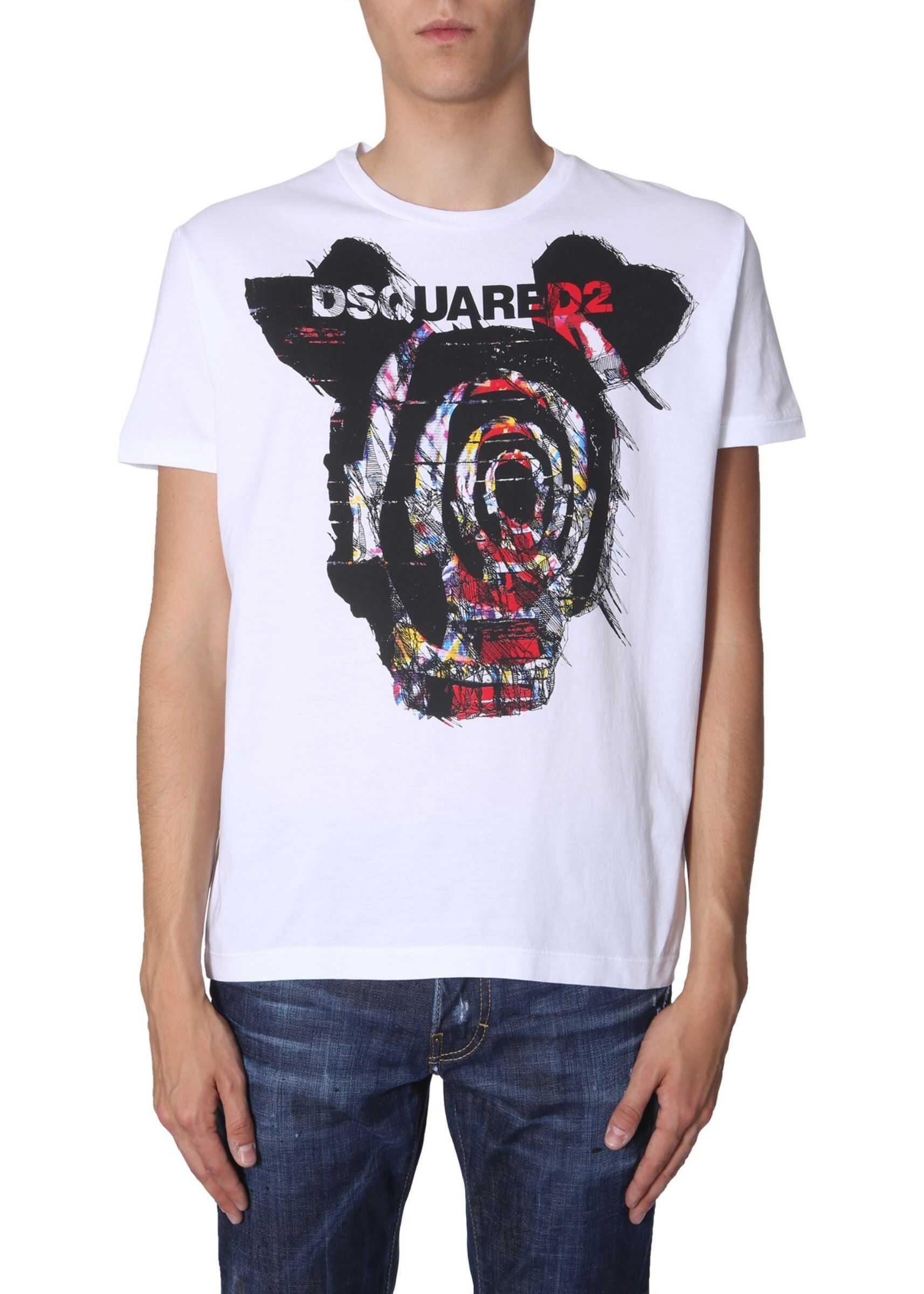 DSQUARED2 Printed T -Shirt WHITE