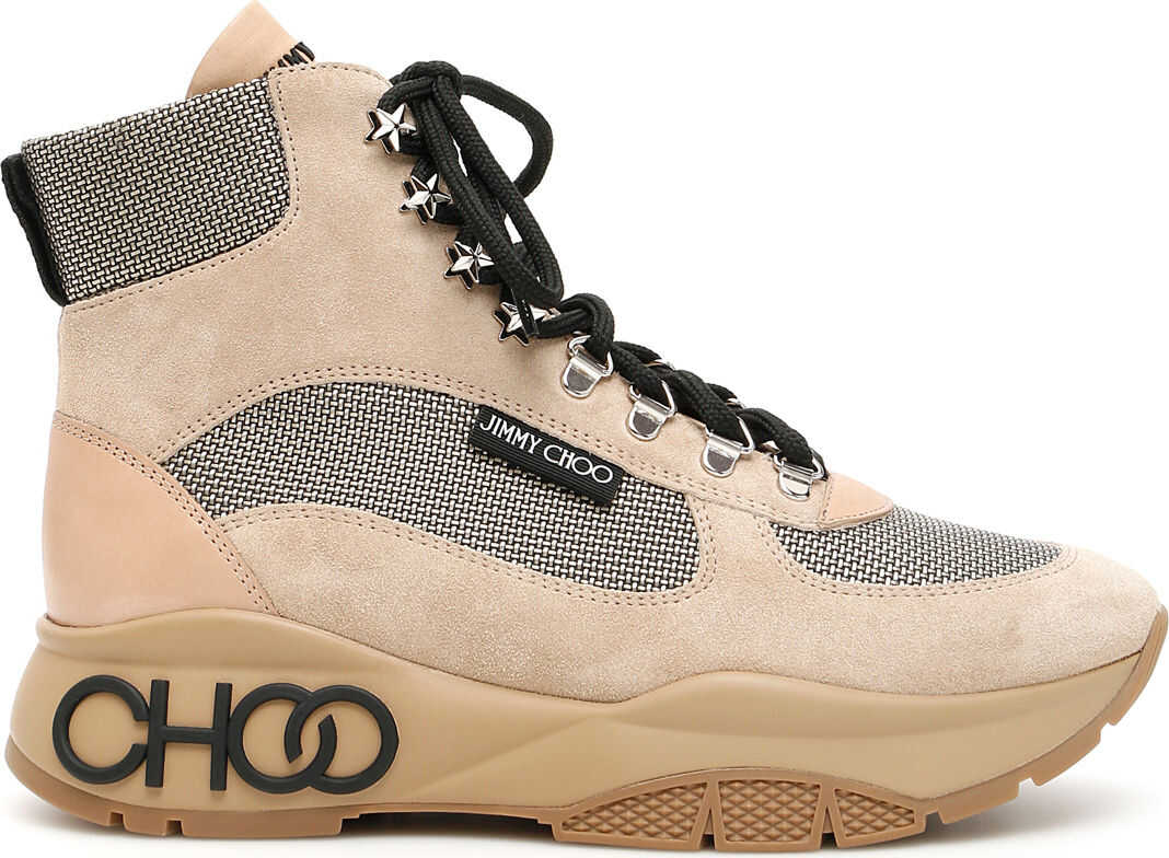 Jimmy Choo Hiking Boots WHITE SAND NATURAL