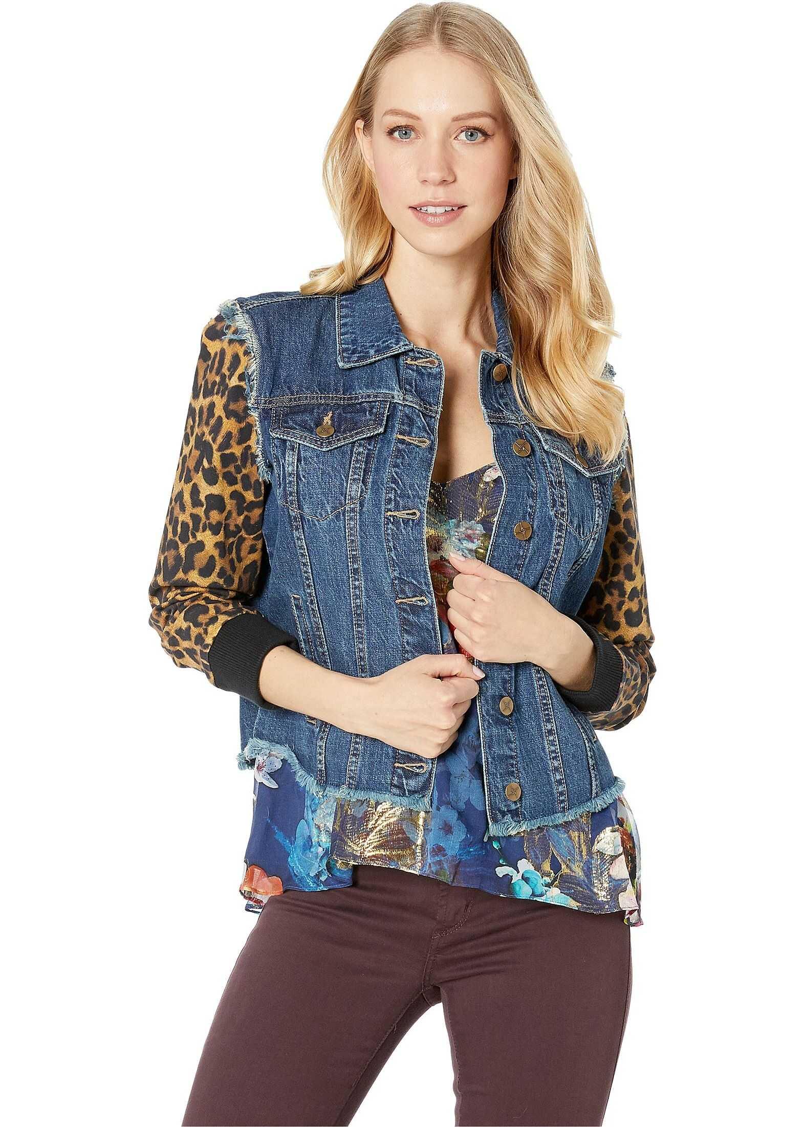Nicole Miller Combo Leopard Jacket Multicolor