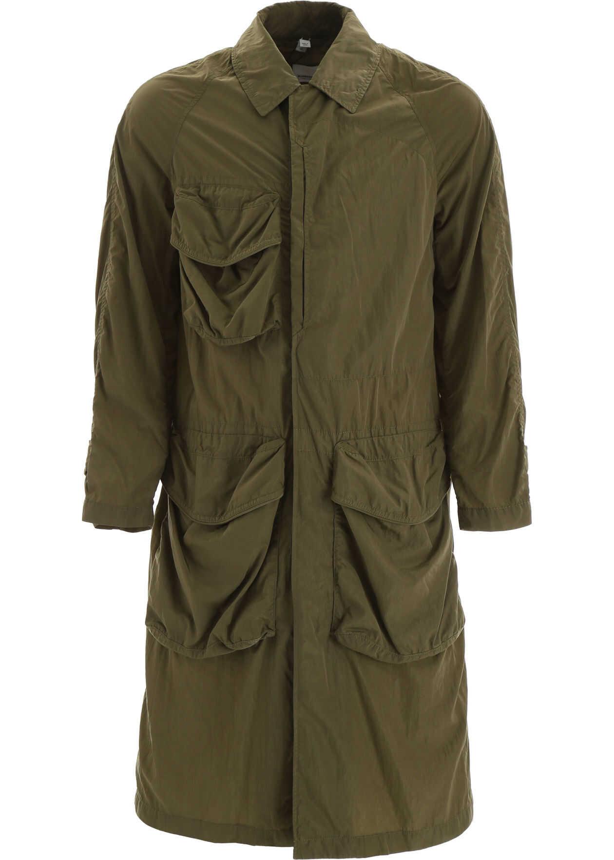 Burberry Raincoat With Cargo Pockets LIGHT MOSS