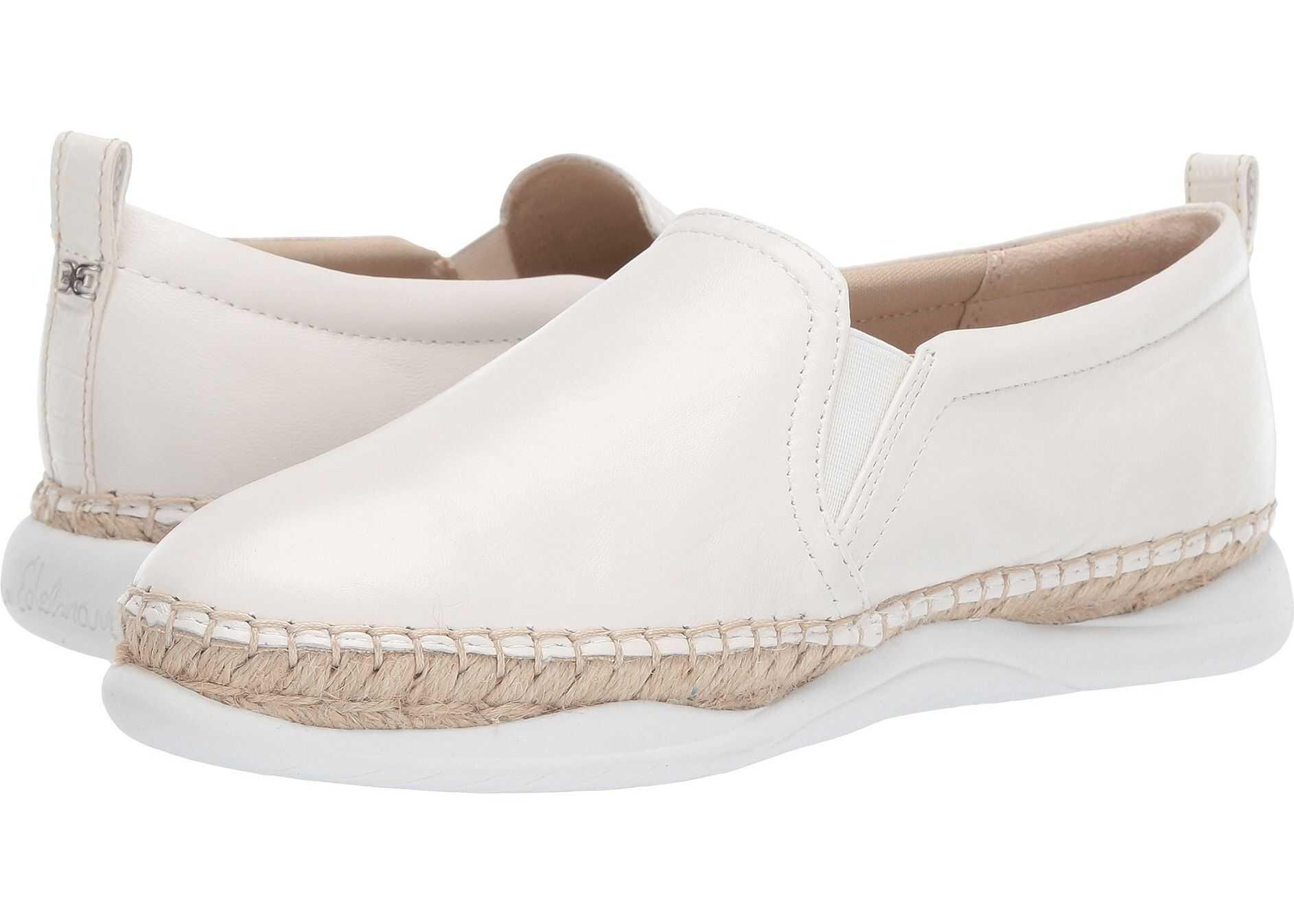 Sam Edelman Kassie Bright White Nappa Verona Leather