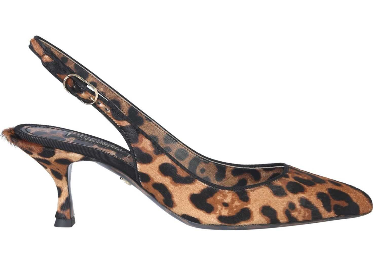 Dolce & Gabbana Back Sling Sandal ANIMALIER