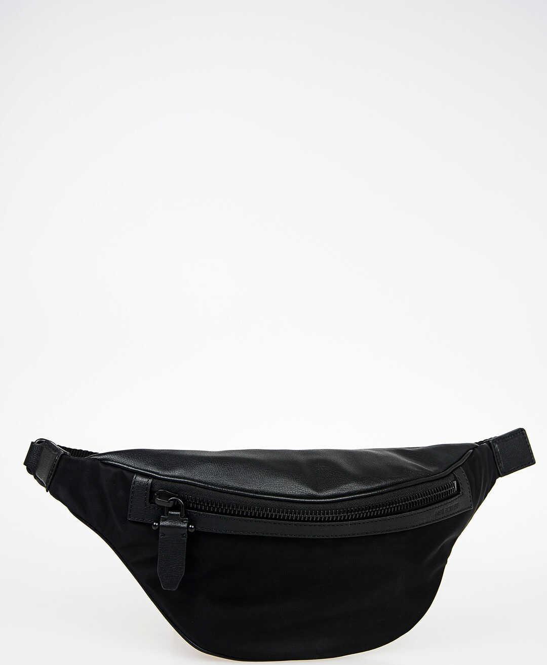 Neil Barrett Nylon and Leather Bum Bag BLACK