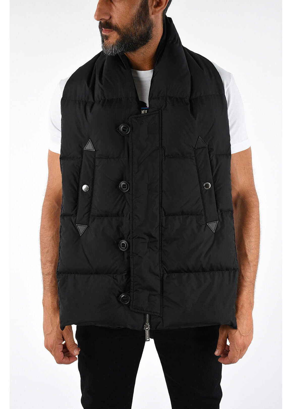 DSQUARED2 Duck Padded Scarf BLACK