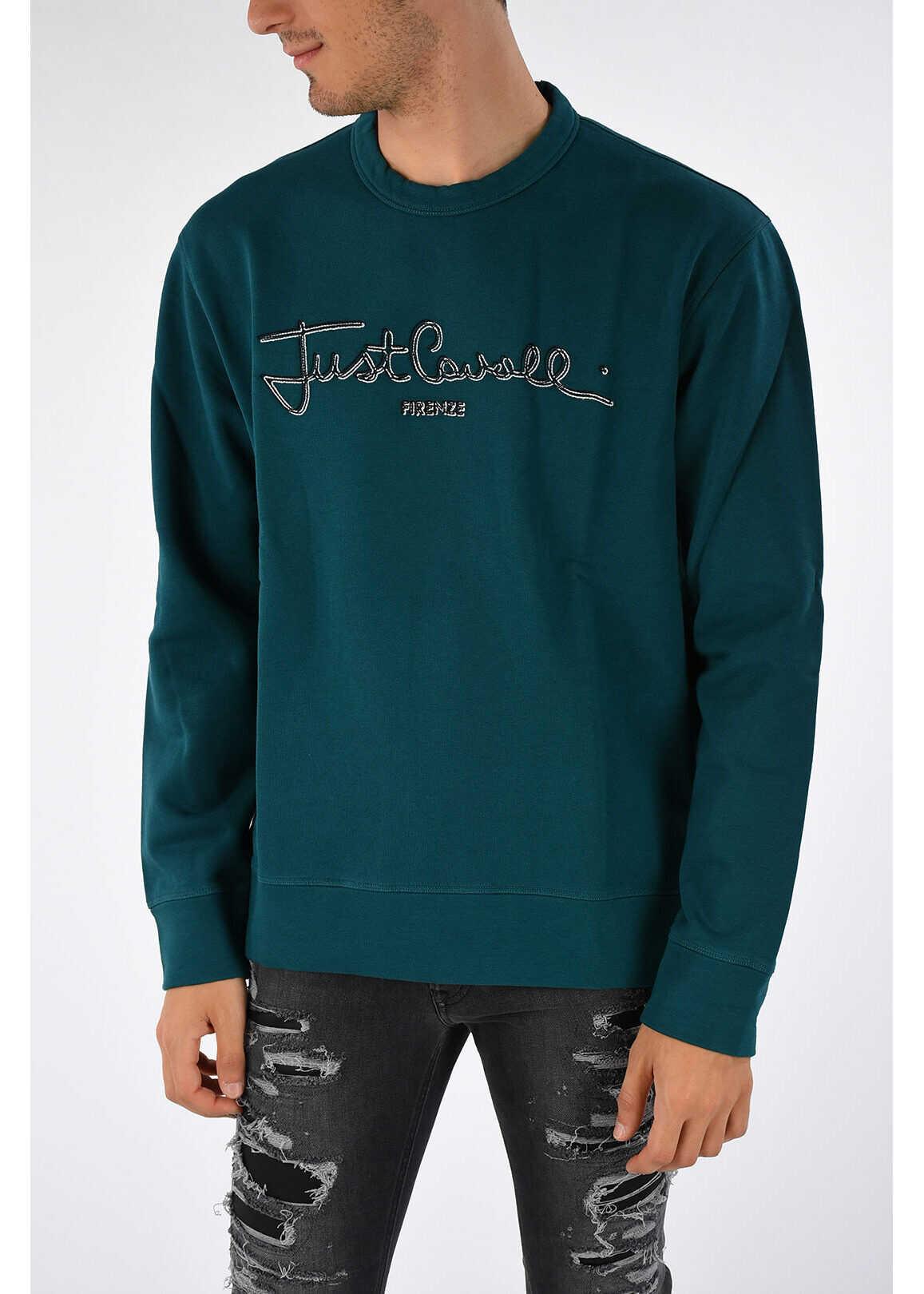 Just Cavalli Embroidered Sweatshirt GREEN