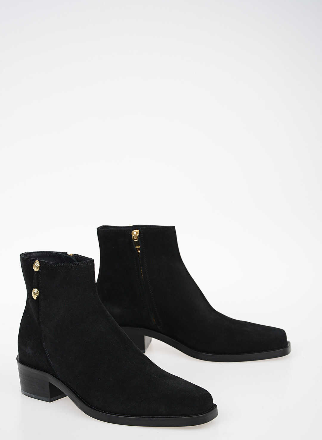Just Cavalli Suede Leather Ankle Boots BLACK