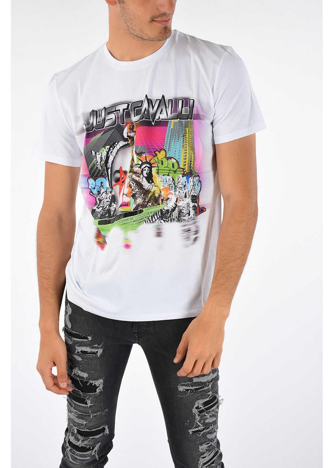 Just Cavalli Printed T-shirt WHITE