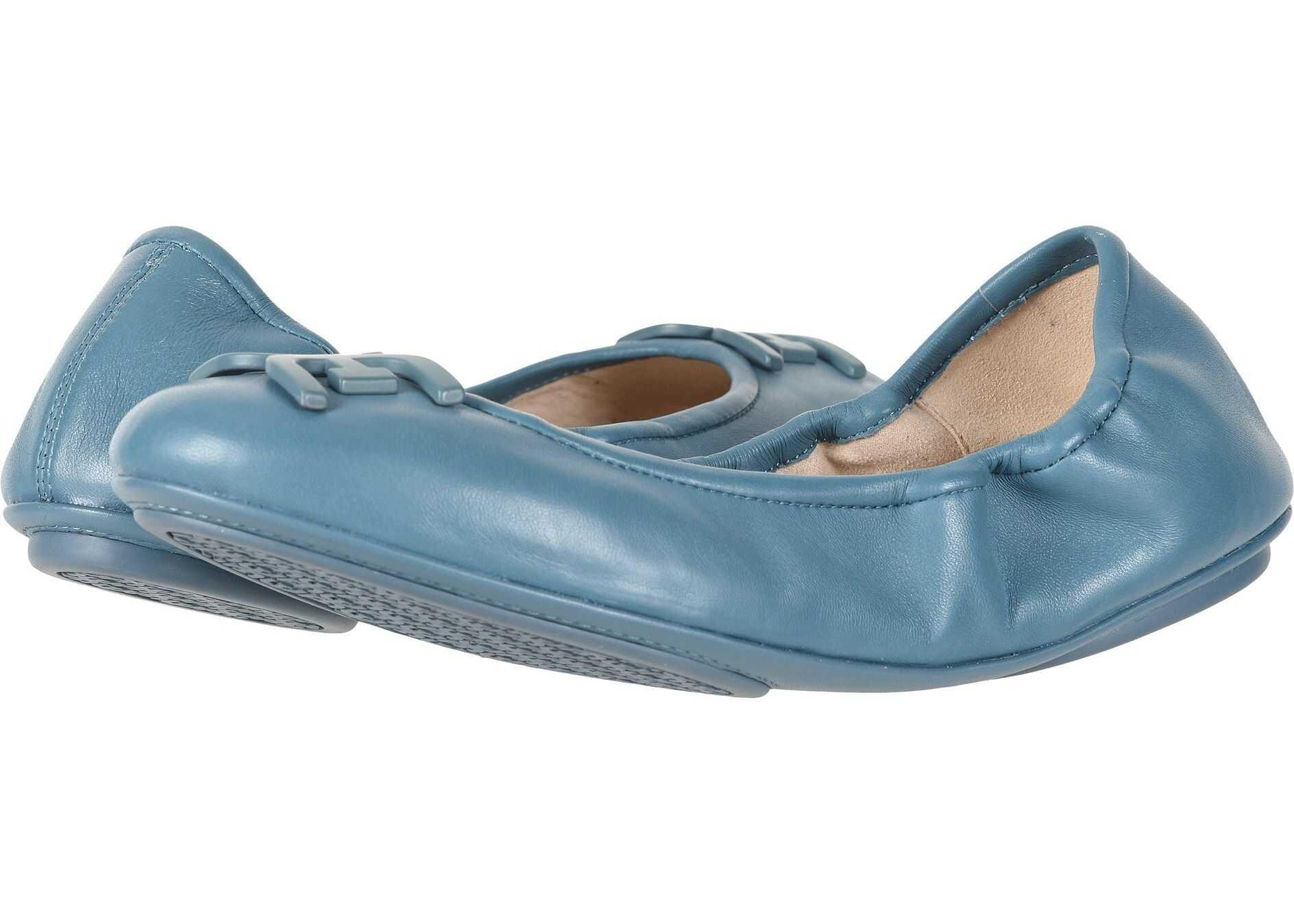 Sam Edelman Florence Denim Blue Nappa Luva Leather