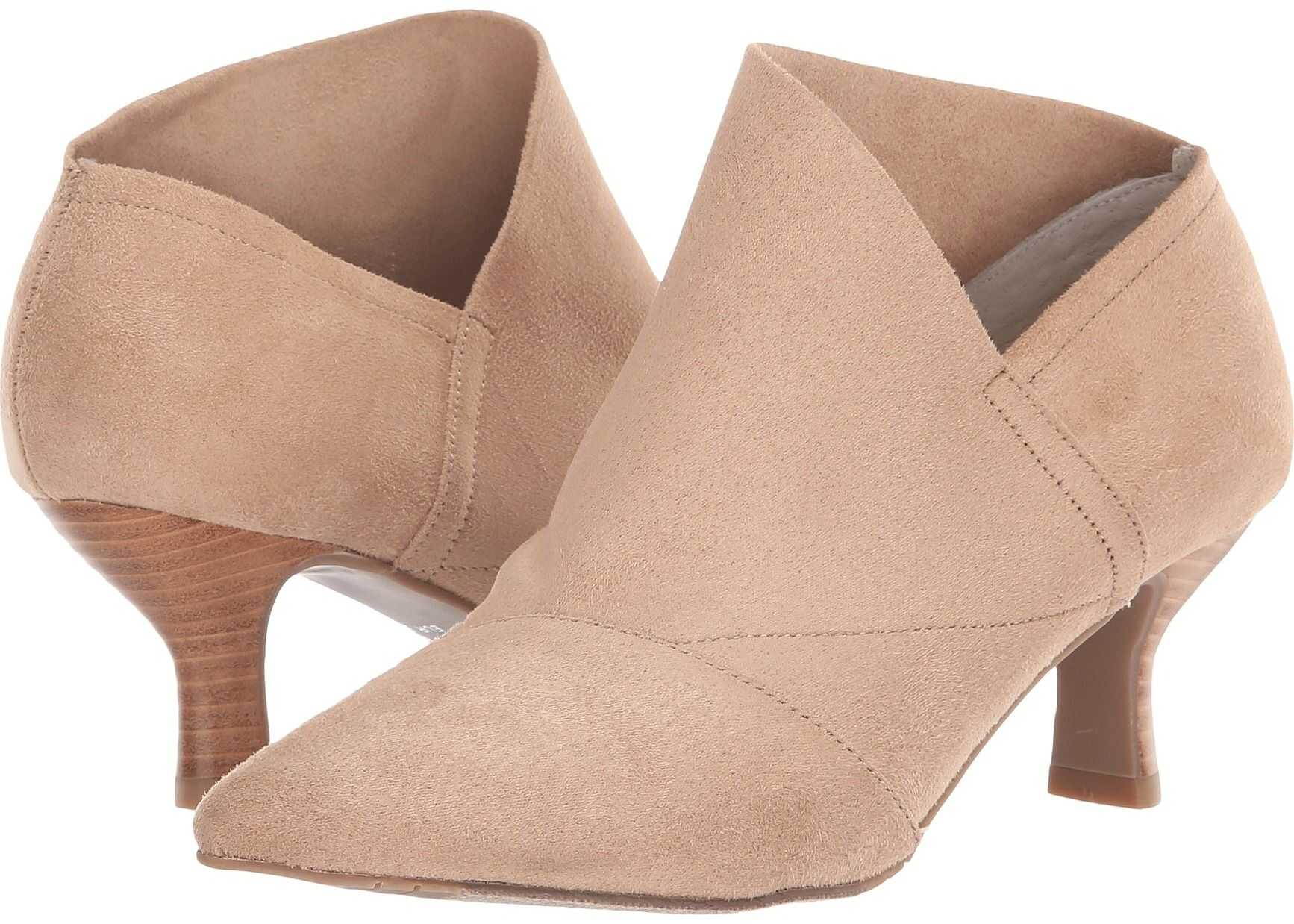 Adrianna Papell Hayes Oat Stretch Micro Suede