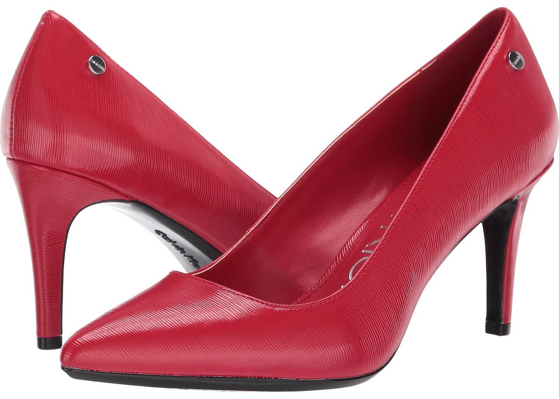 Calvin Klein Nilly Cherry Red Patent Smooth