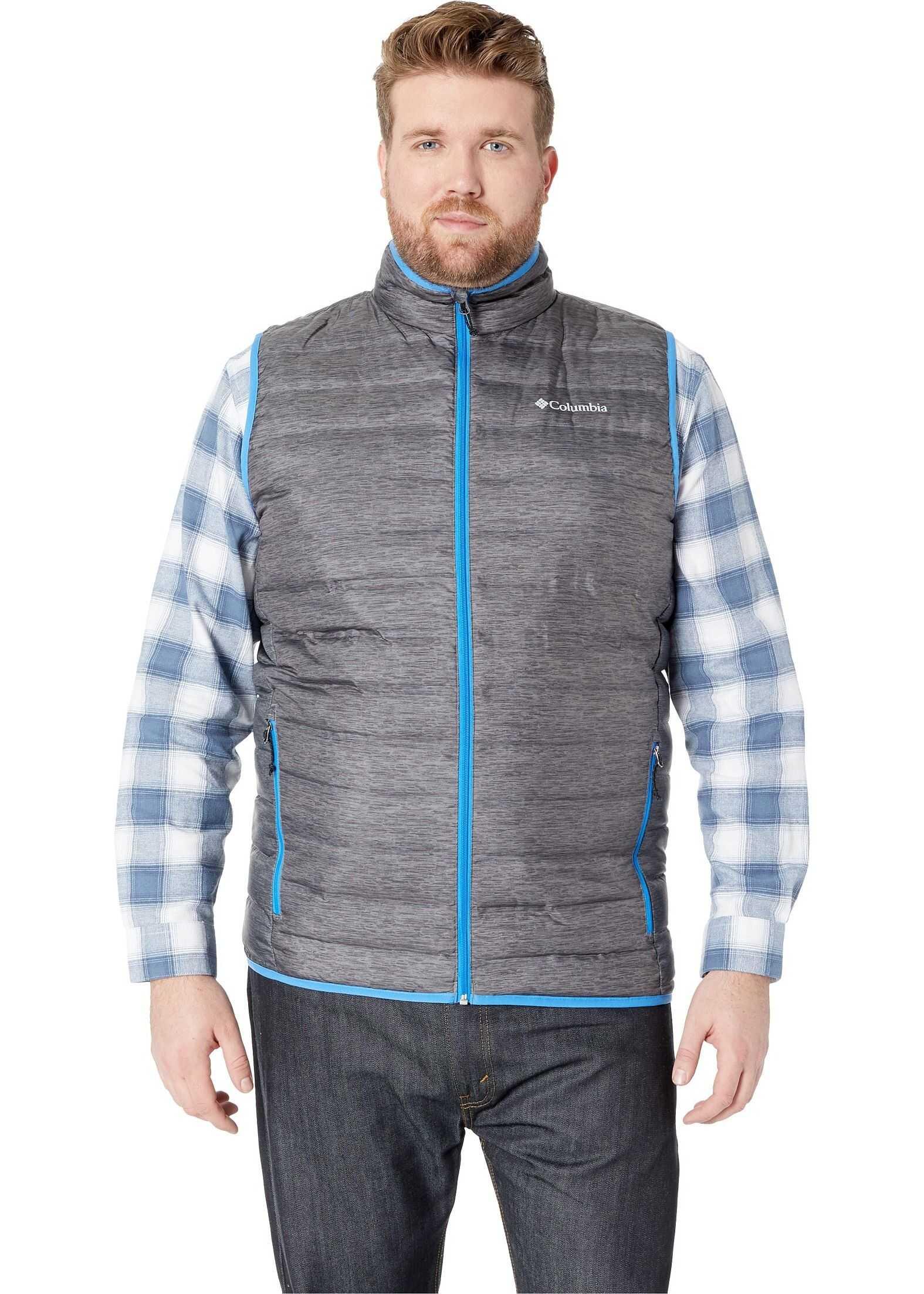 Columbia Big & Tall Lake 22™ Down Vest Charcoal Heather Print/Azure Blue