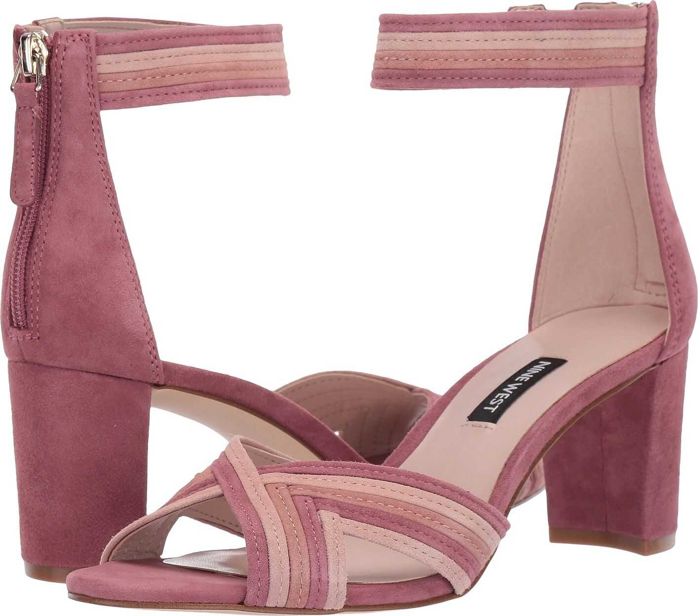 Nine West Pearl Heeled Sandal Peony/Modern Pink/Dusty Coral