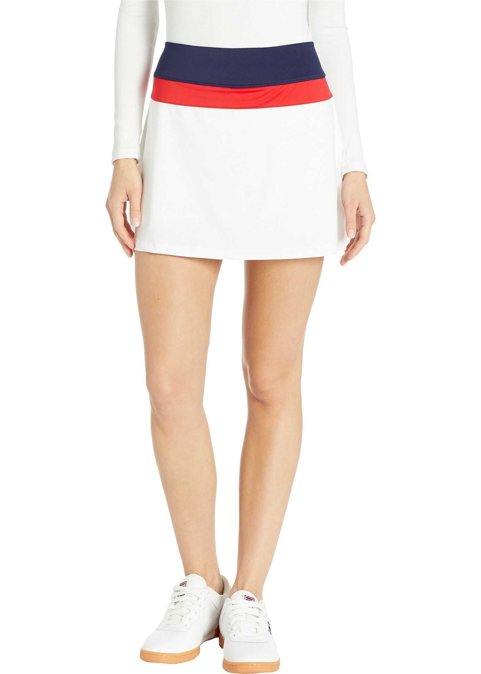 Fila Heritage Color Block Skort White/Navy/Chinese Red