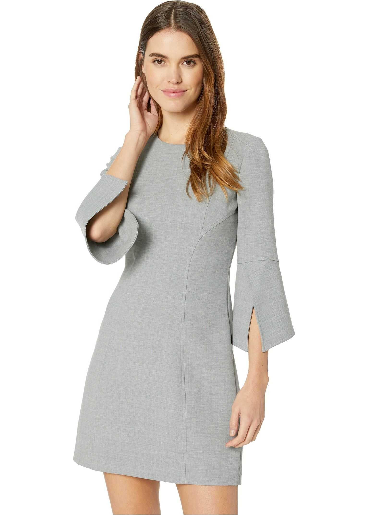 Badgley Mischka Split Sleeve Dress Heather Grey