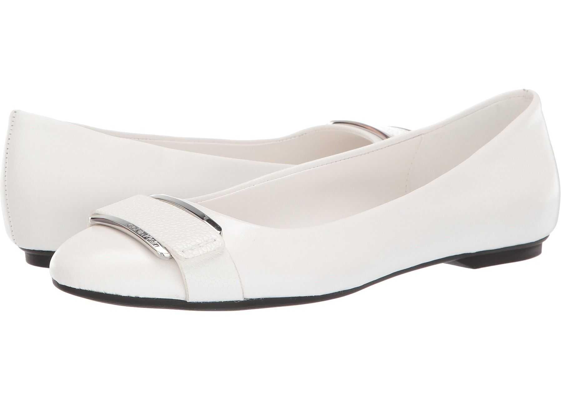 Calvin Klein Oneta White Nappa/Pebble Grain