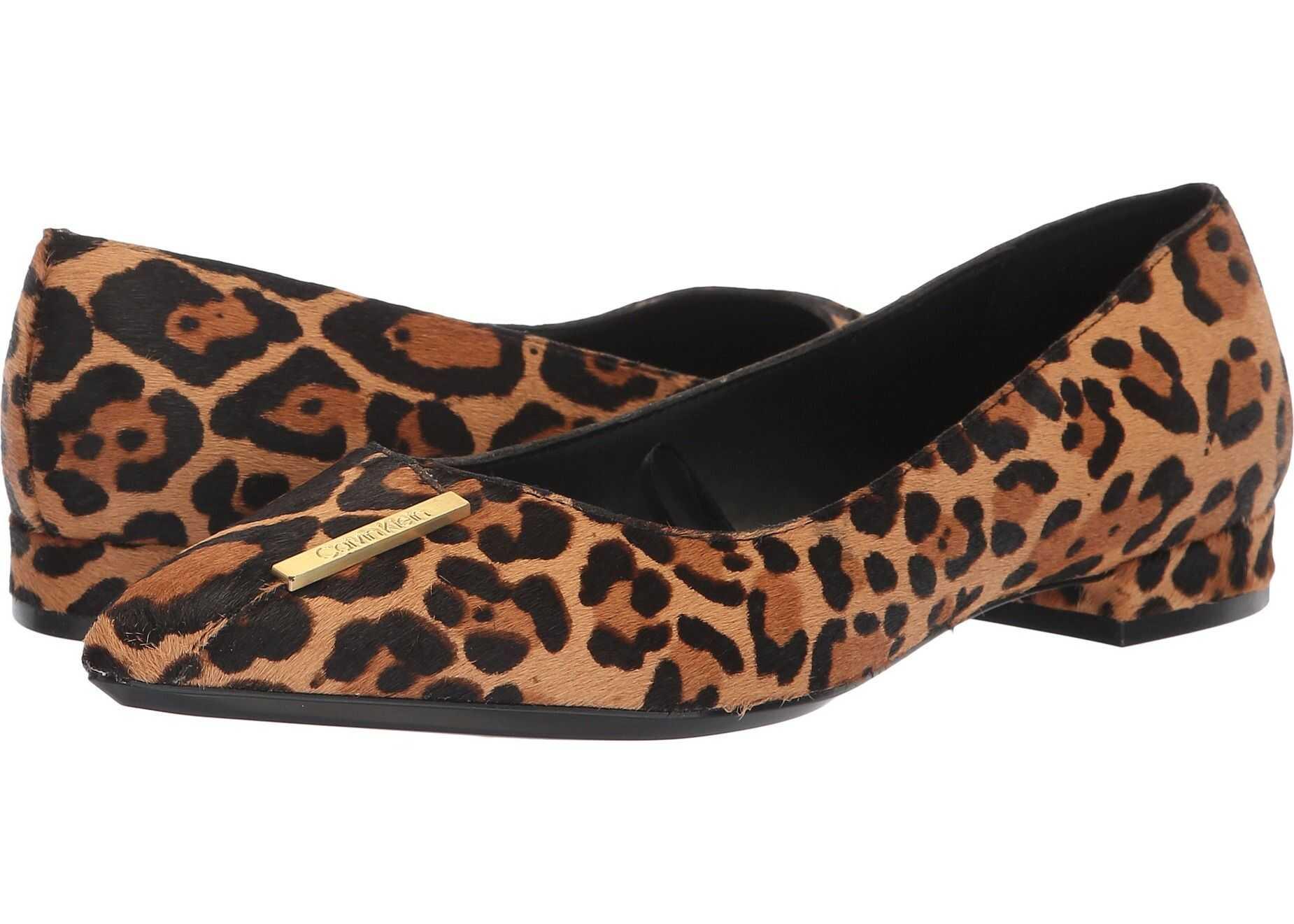 Calvin Klein Arline Natural Winter Leopard Haircalf