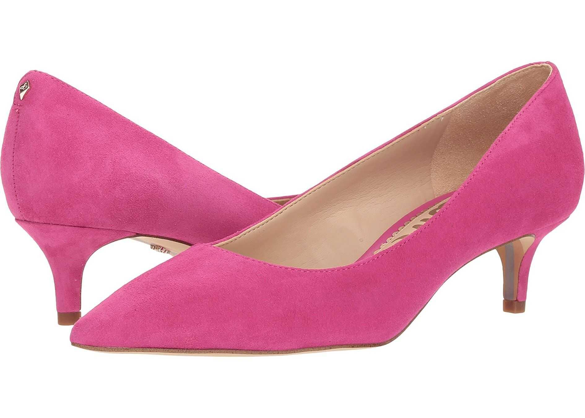 Sam Edelman Dori Retro Pink Suede Leather