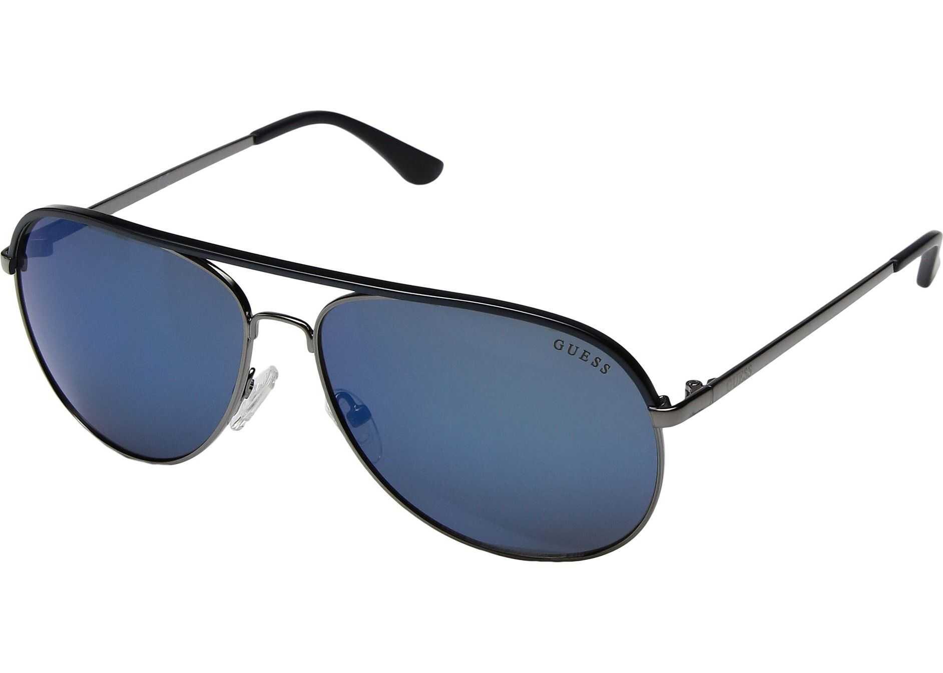 GUESS GF5013 Gunmetal/Blue/Blue Mirror Lens