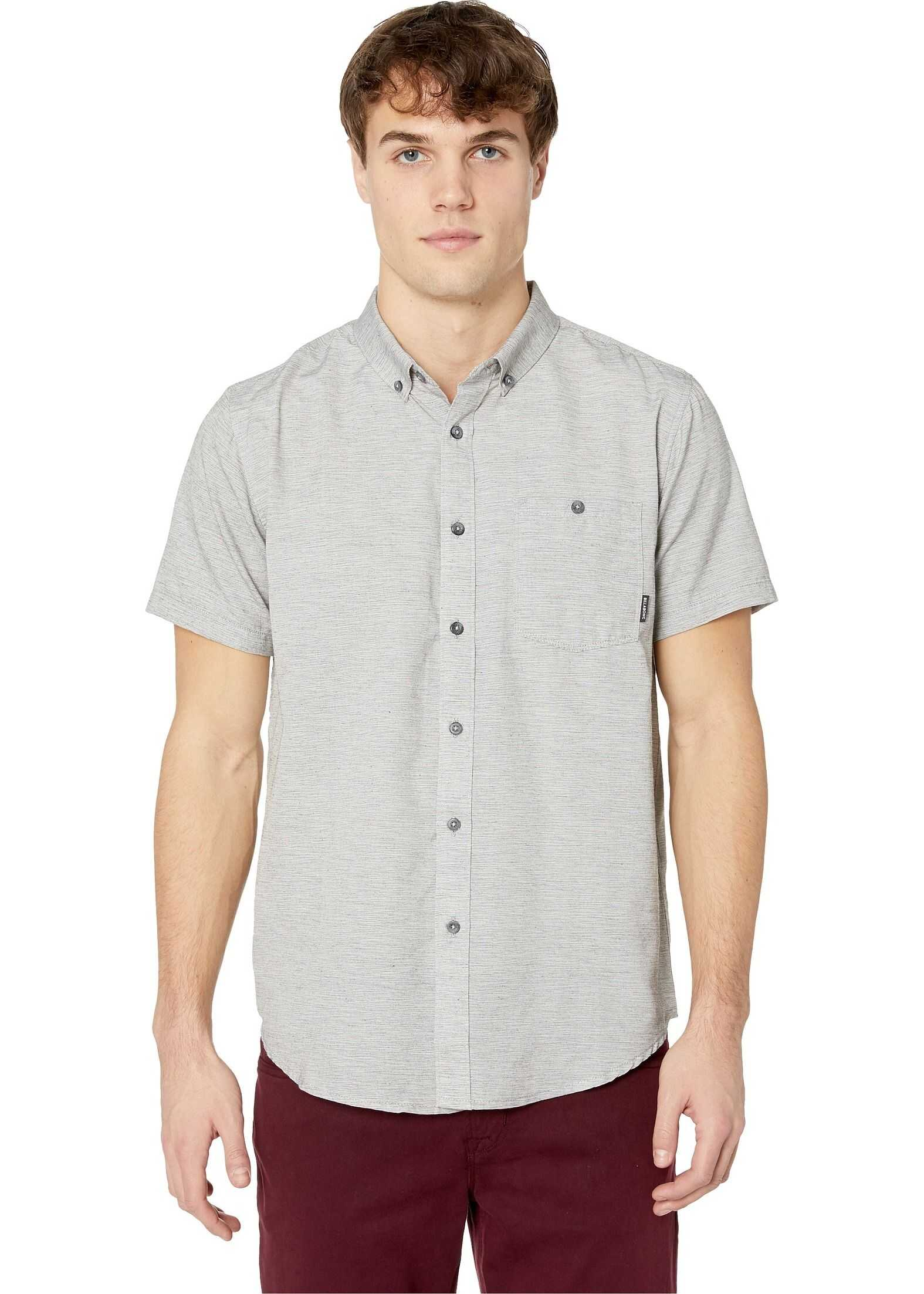 Billabong All Day Short Sleeve Woven Light Grey