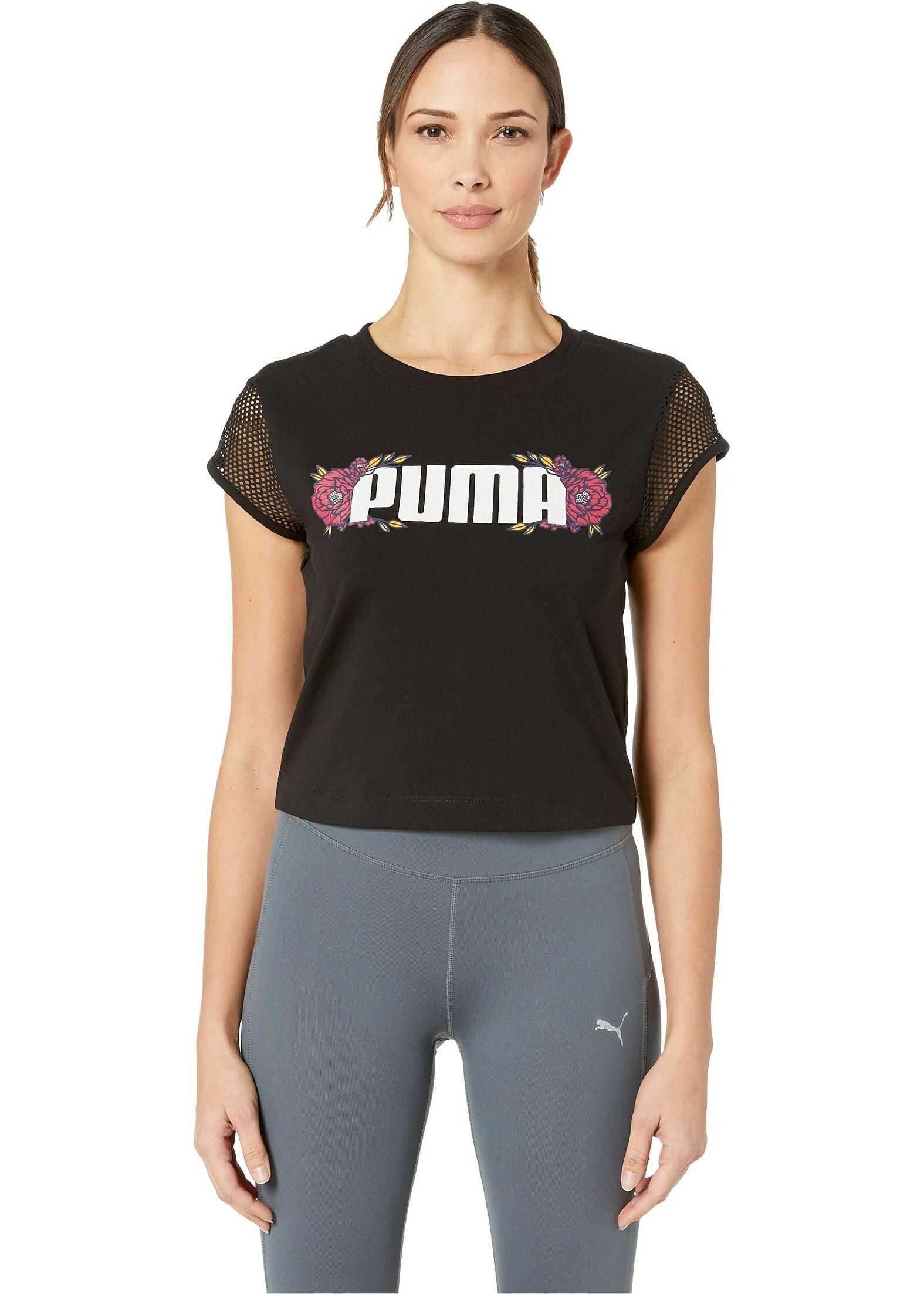 PUMA Flourish Touch of Life Fashion Tee Puma Black/Gold Fusion