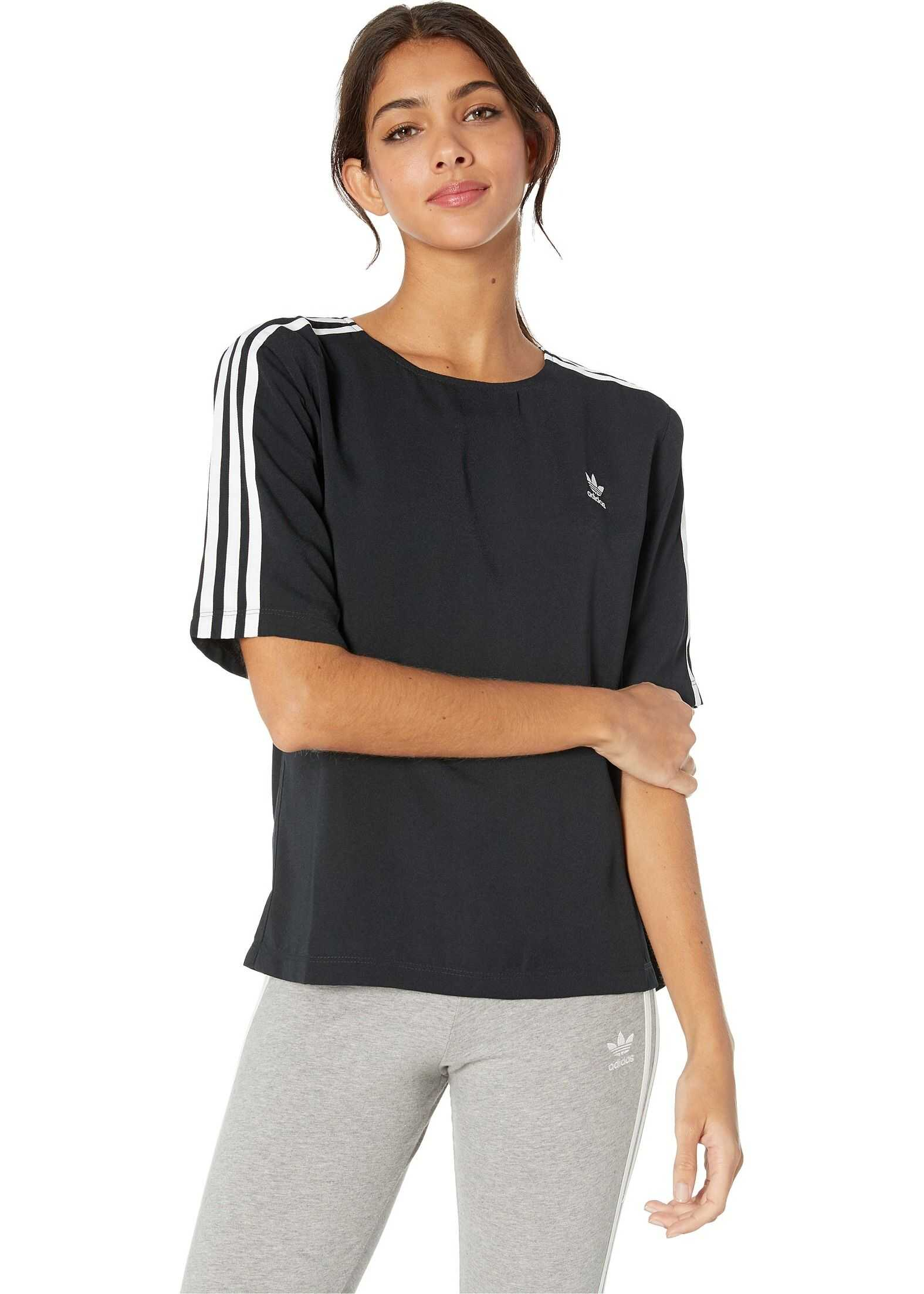 adidas Originals 3-Stripes Tee Black 1