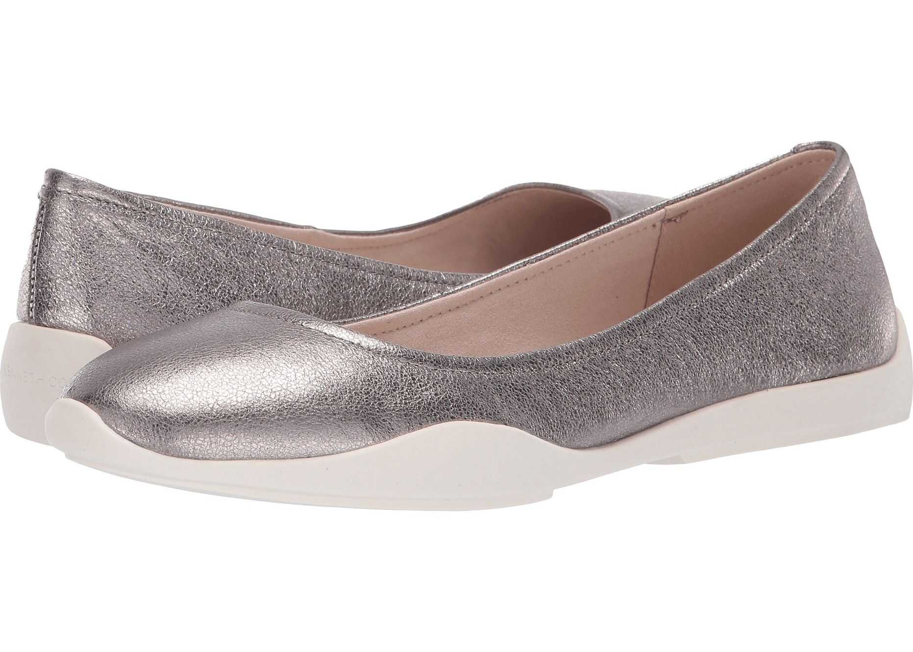 Kenneth Cole New York Vida Pewter Metallic Leather