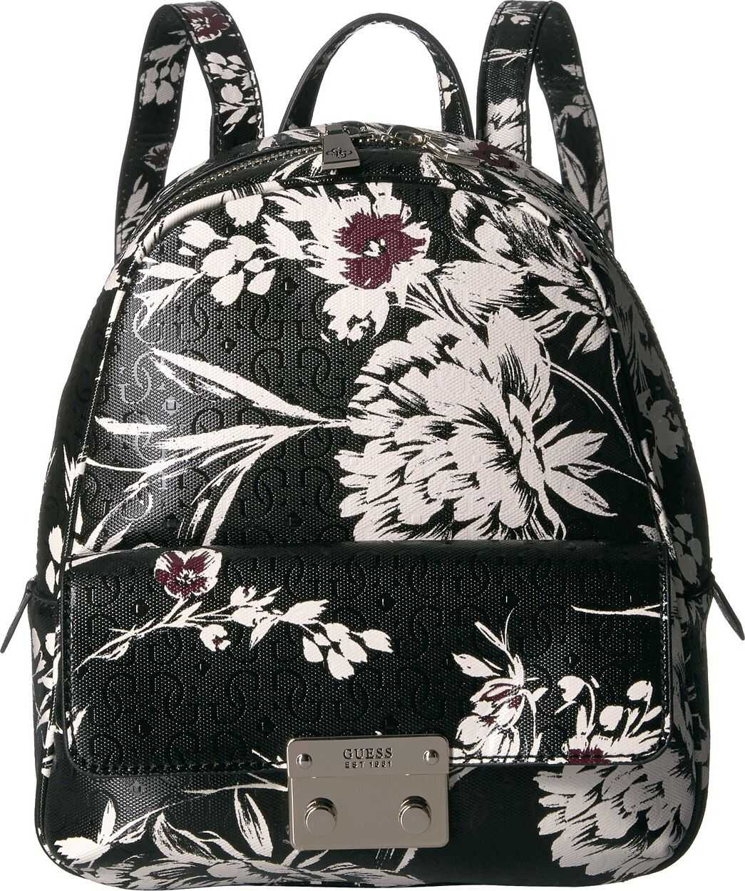 GUESS Tamra Small Backpack Black Floral