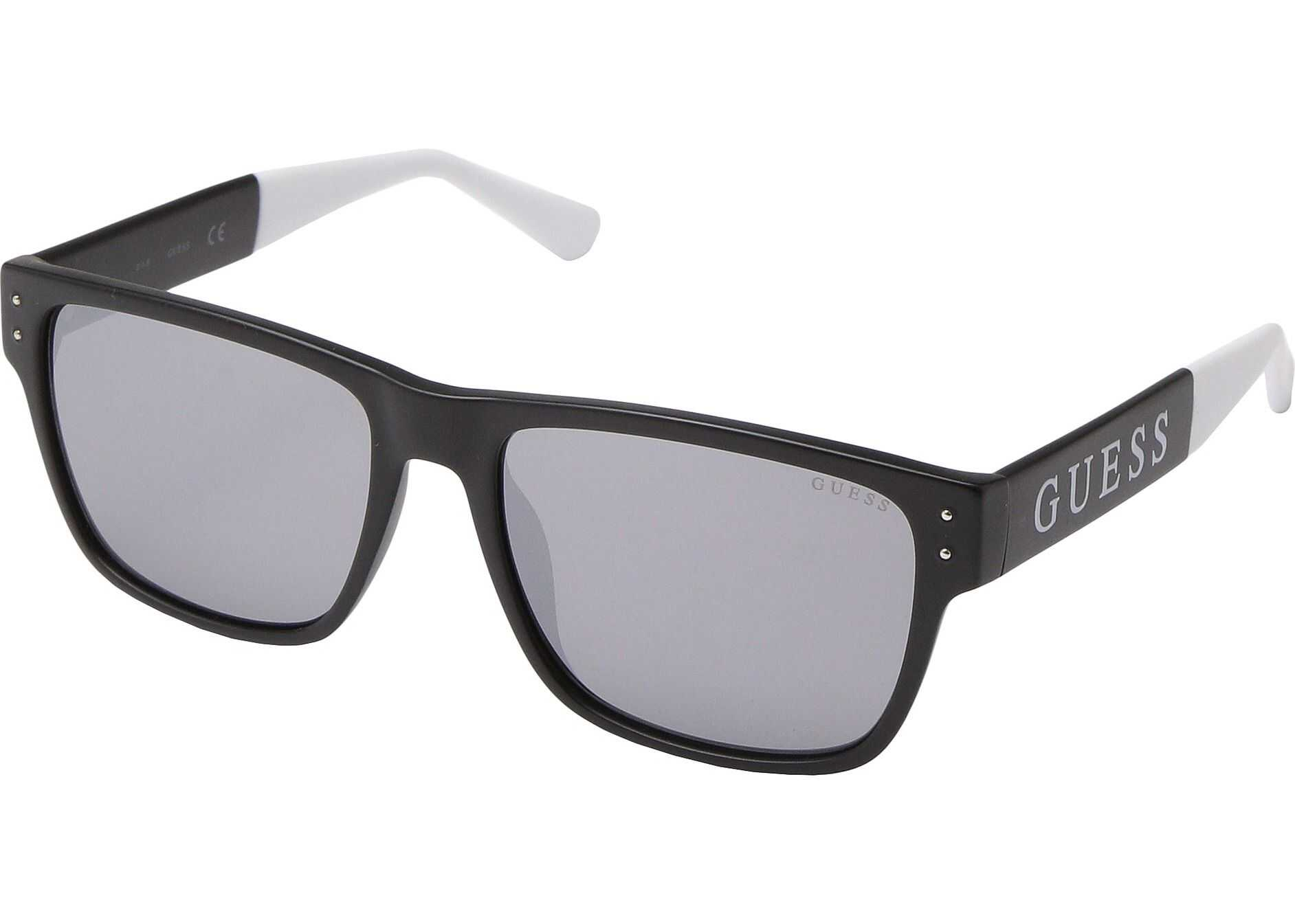 GUESS GF5055 Matte Black/Blue Mirror