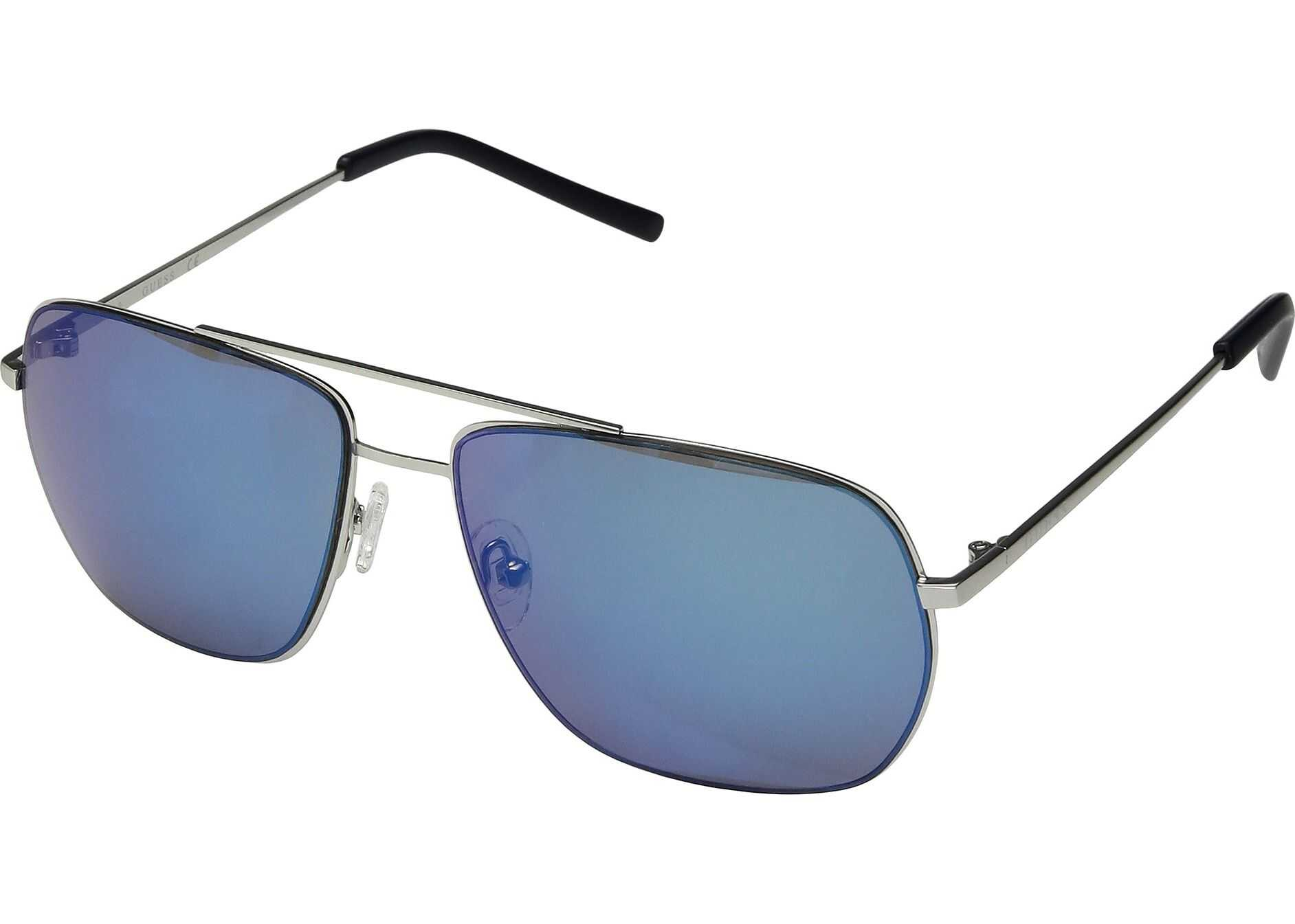 GUESS GF0196 Matte Light Nickeltin/Blue Mirror