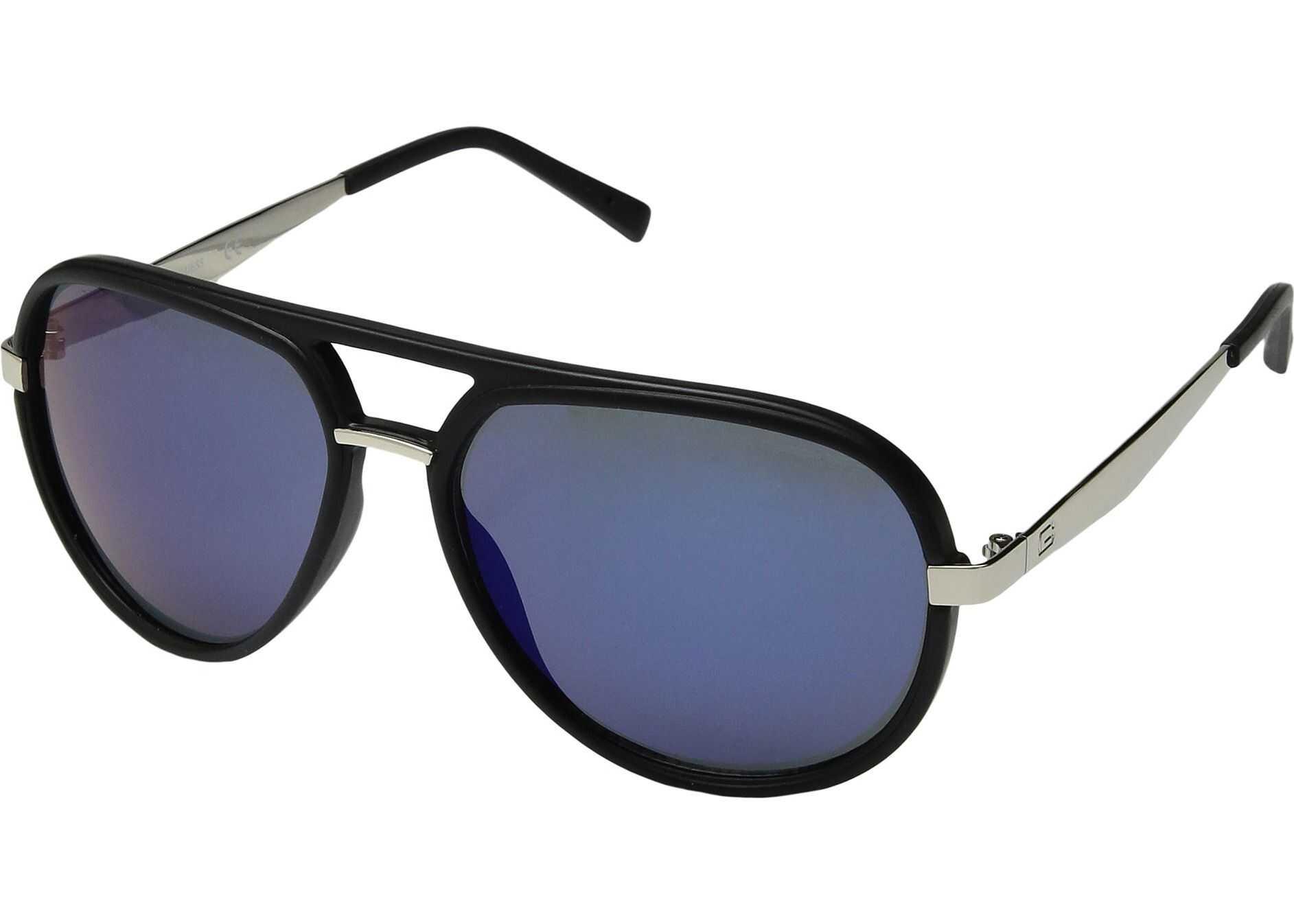 GUESS GF5037 Matte Black/Blue Mirror