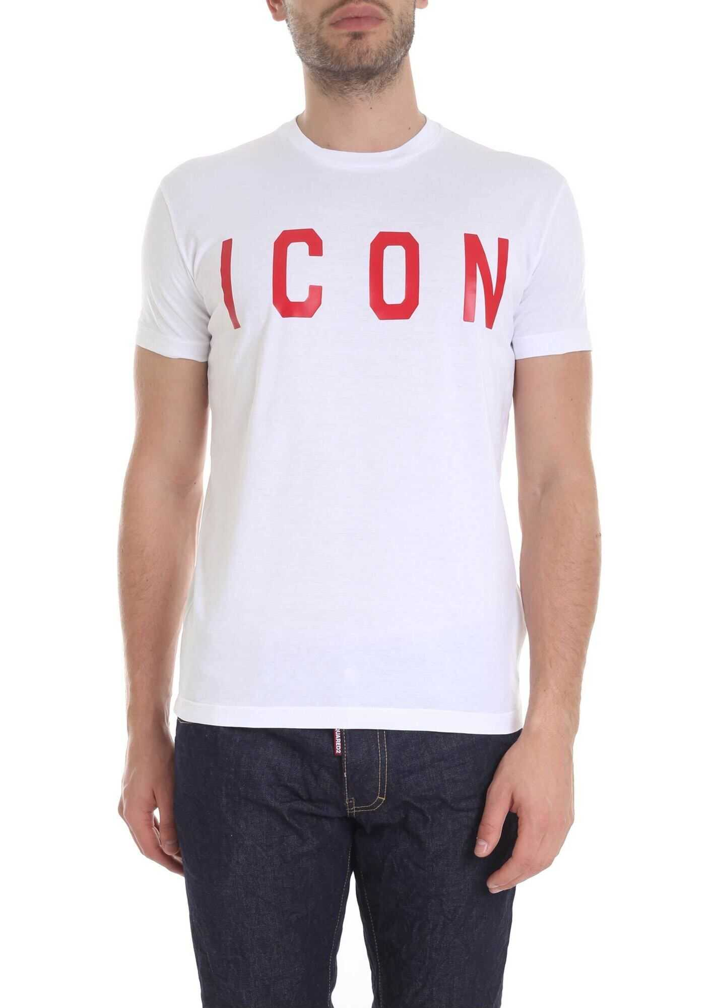 DSQUARED2 Icon Printed T-Shirt In White White