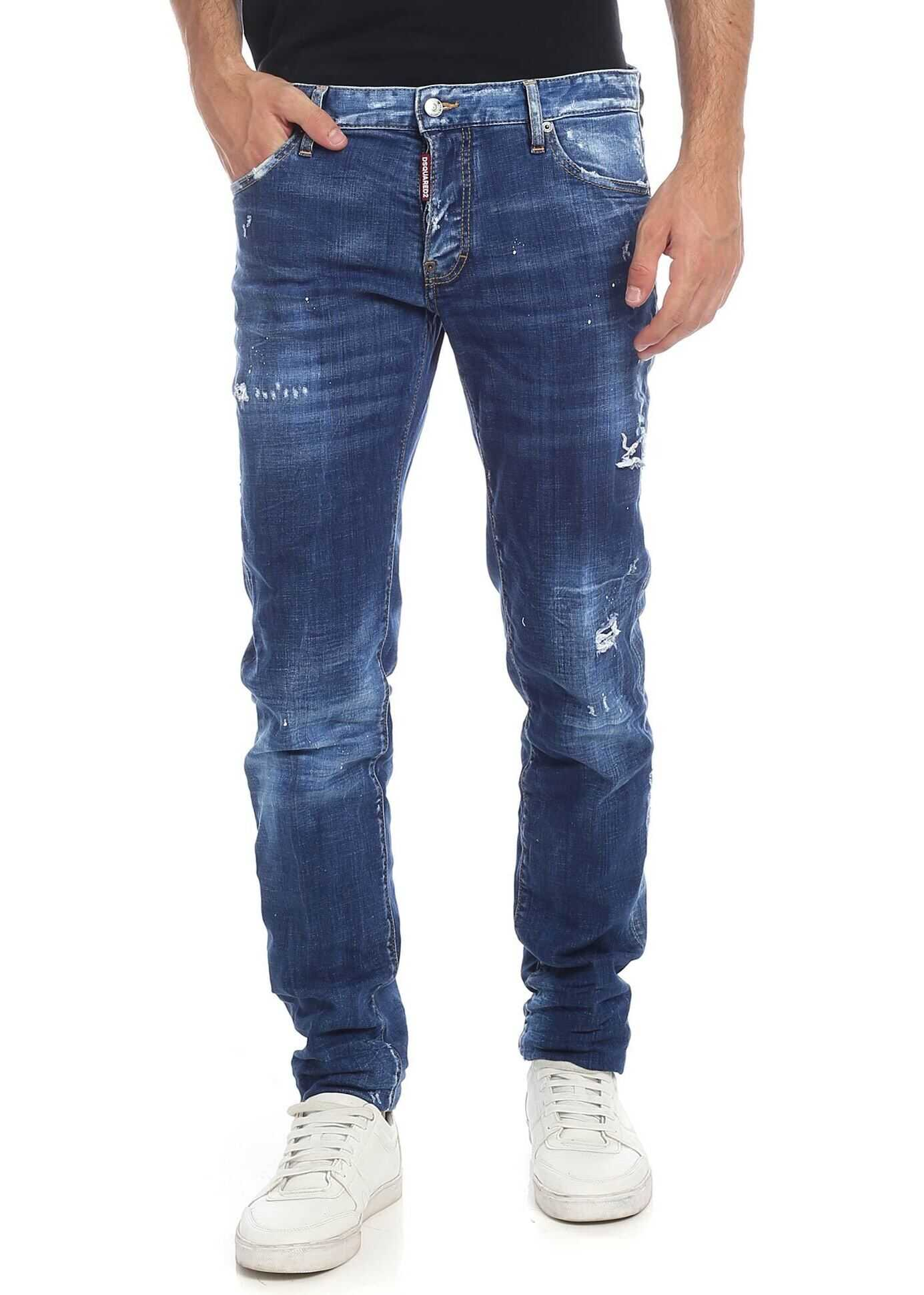 DSQUARED2 Destroyed Slim Jean Jeans In Blue Blue