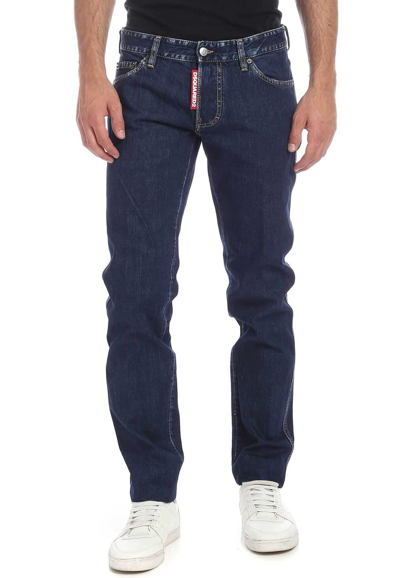 DSQUARED2 Slim Jean Jeans In Blue With Vintage Details Blue