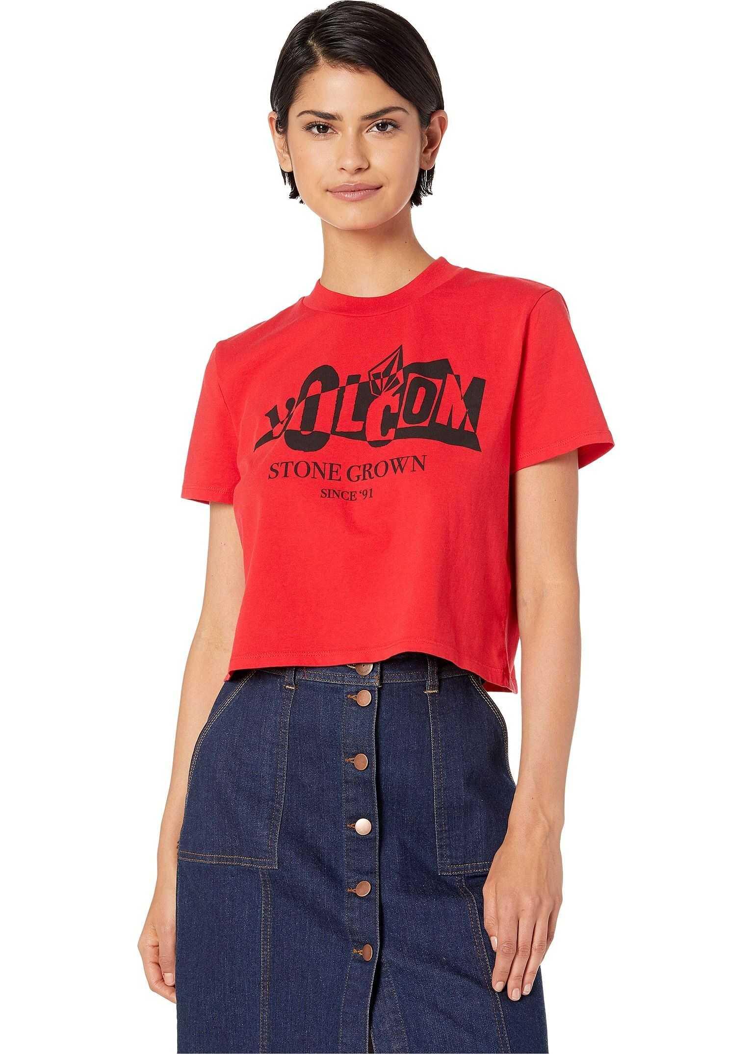 Volcom Stone Grown T-Shirt Red