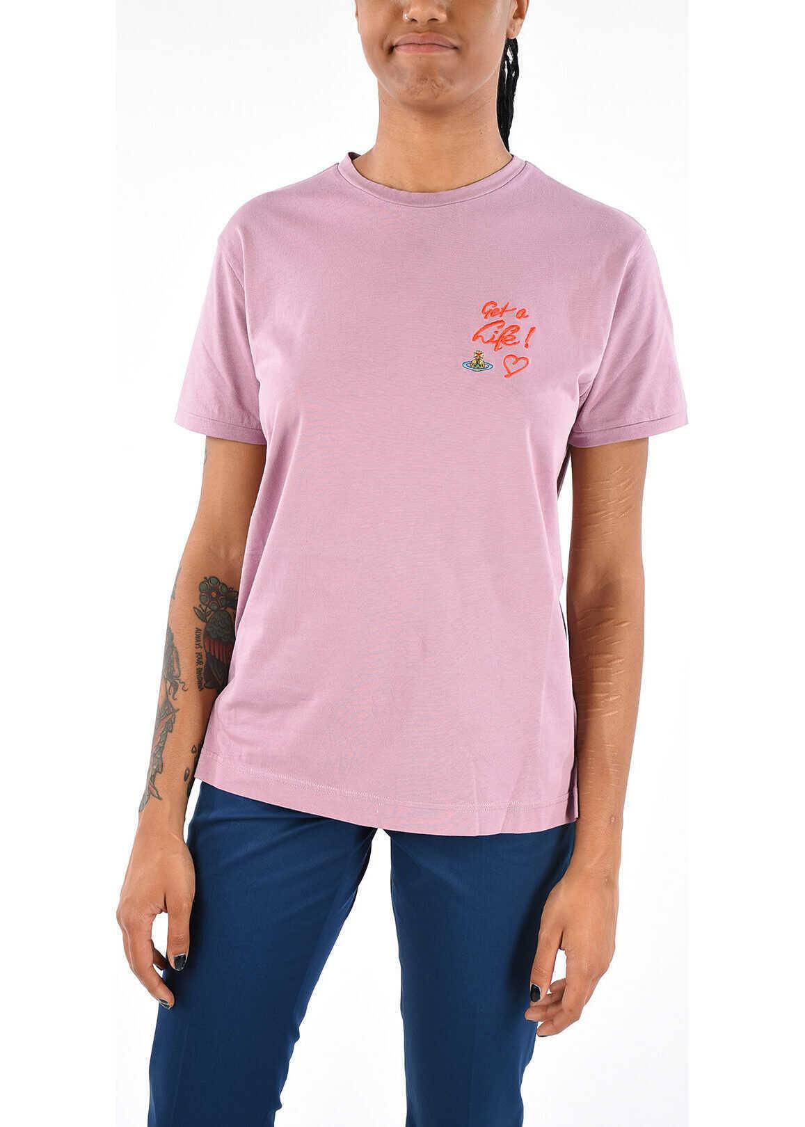 Vivienne Westwood Bio Cotton Embroidered T-shirt PINK
