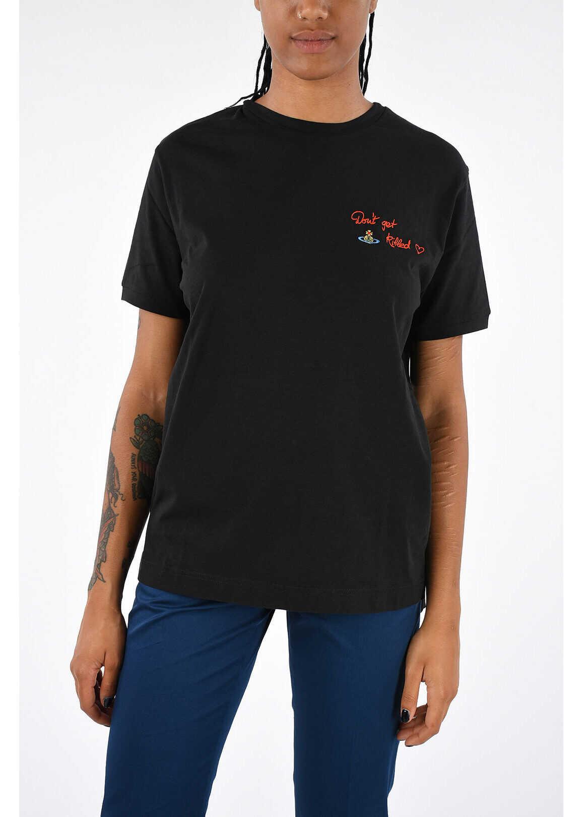 Vivienne Westwood Bio Cotton Embroidered T-shirt BLACK