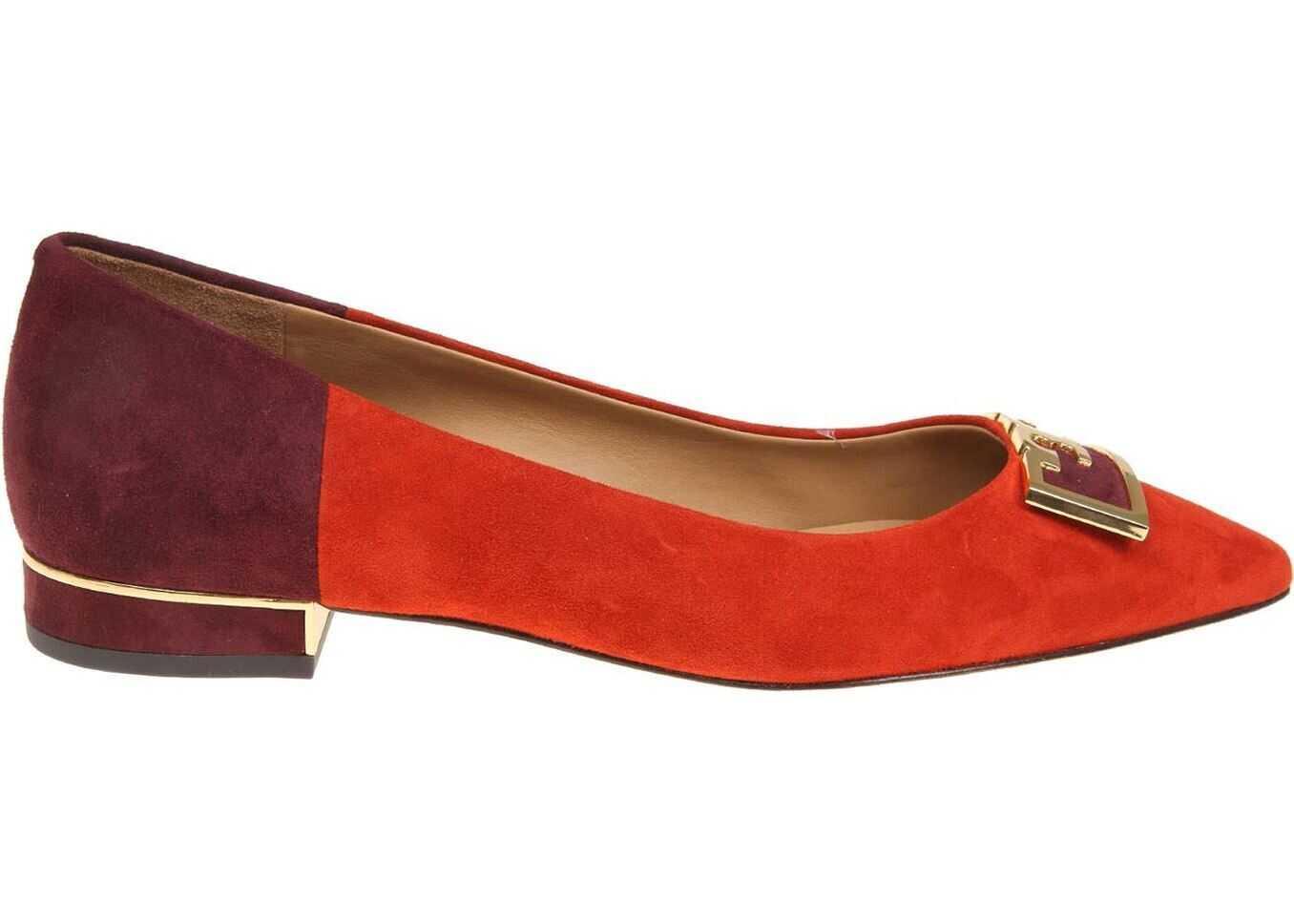 Tory Burch Gigi Suede Ballerinas Red