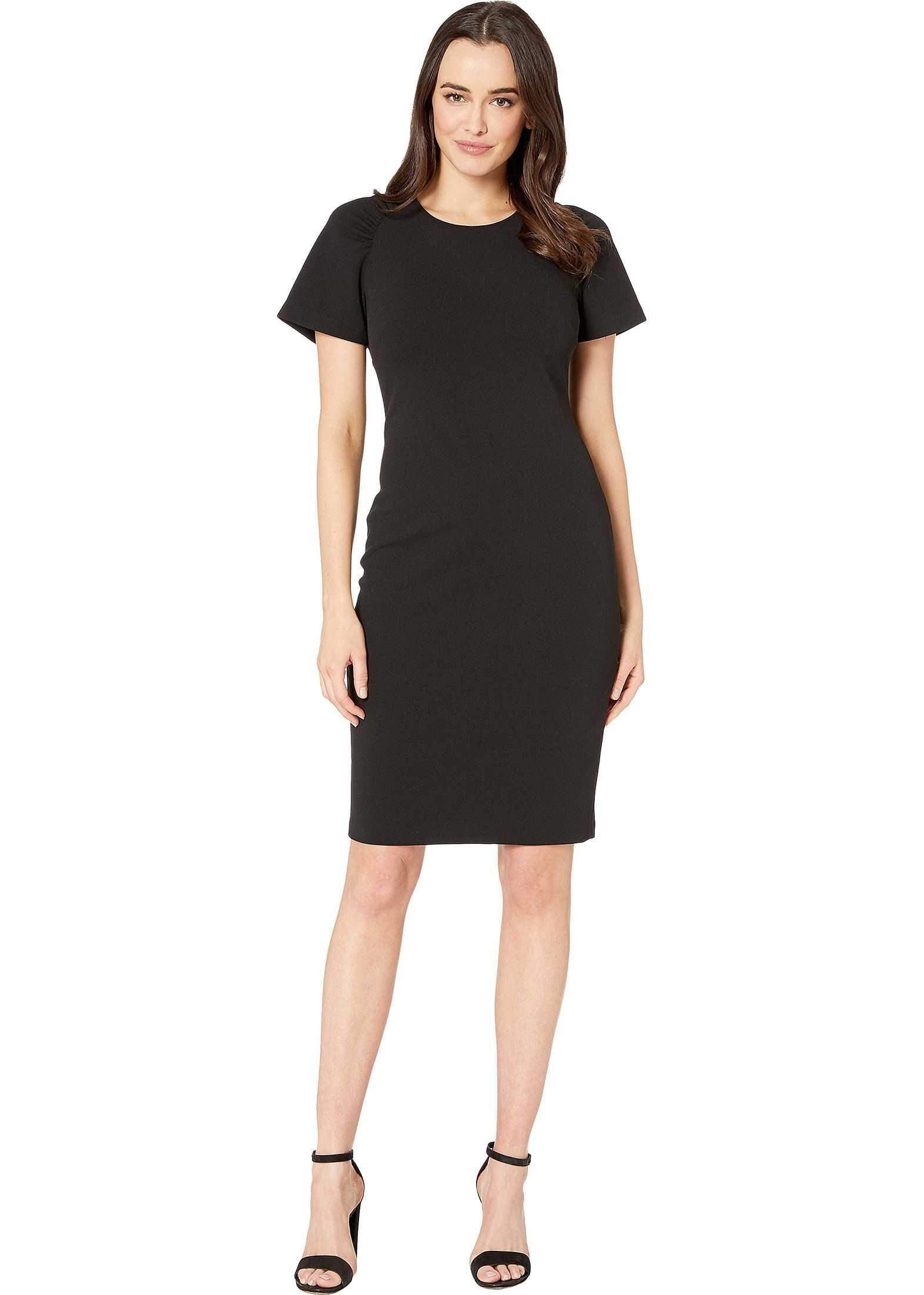 Calvin Klein Cap Sleeve Solid Dress Black