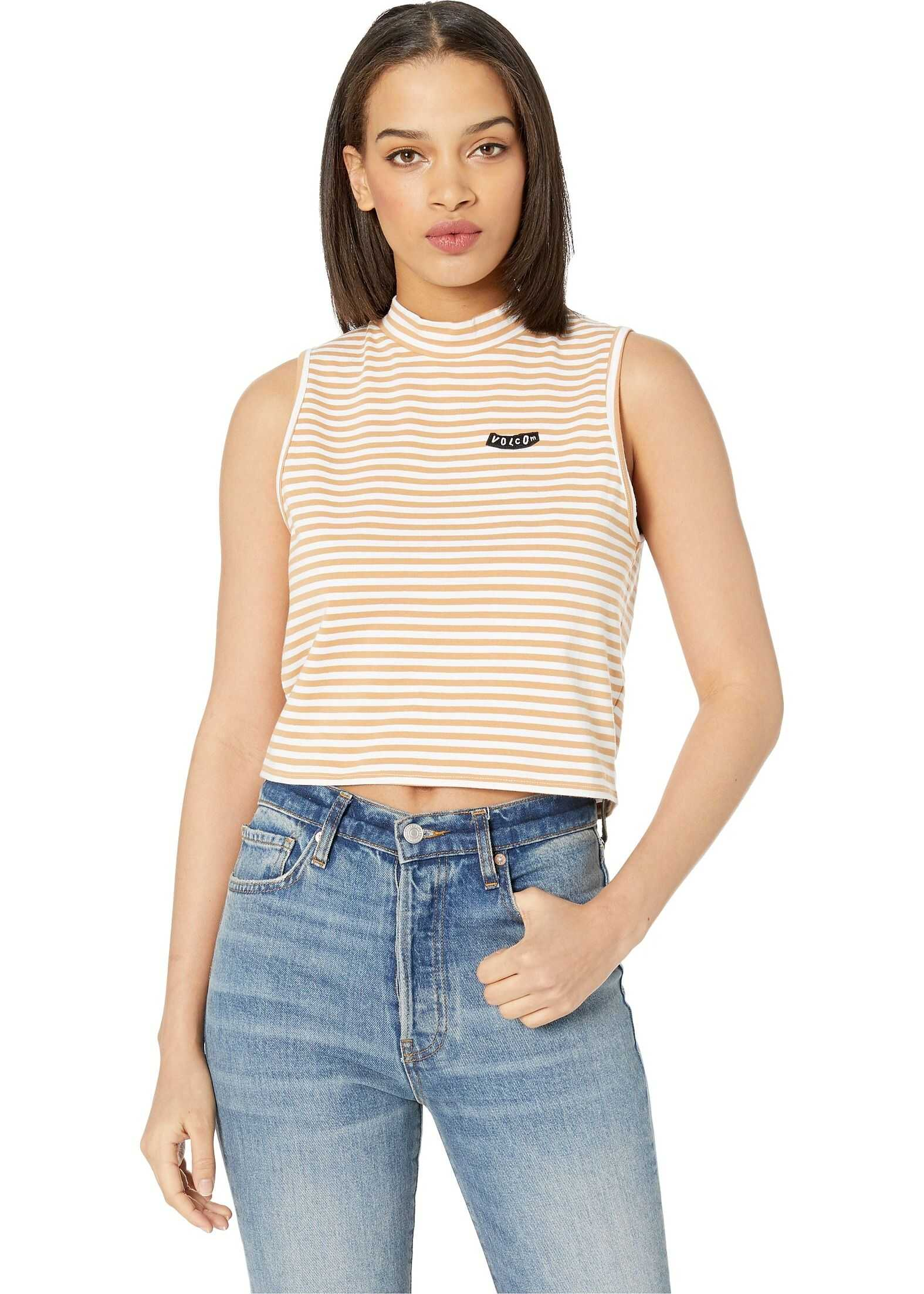 Volcom Looking Out Tank Top Camel