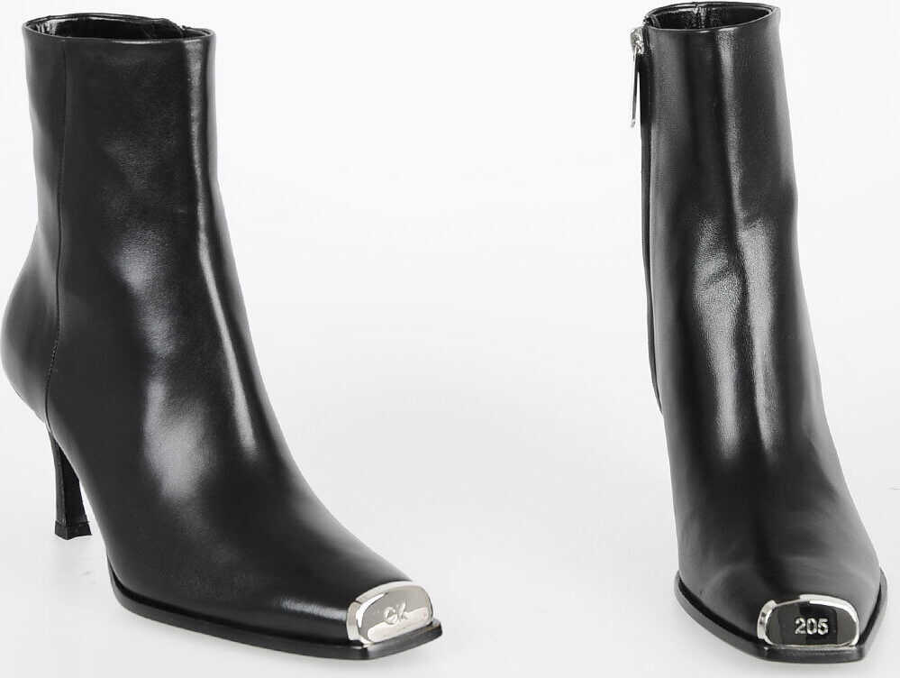 Calvin Klein 205W39NYC 8cm Leather Ankle Boots N/A