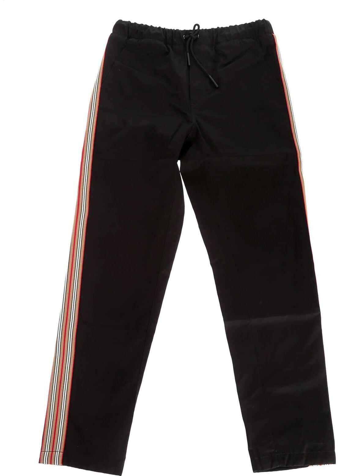 Burberry Curran Icon Pants In Black Black