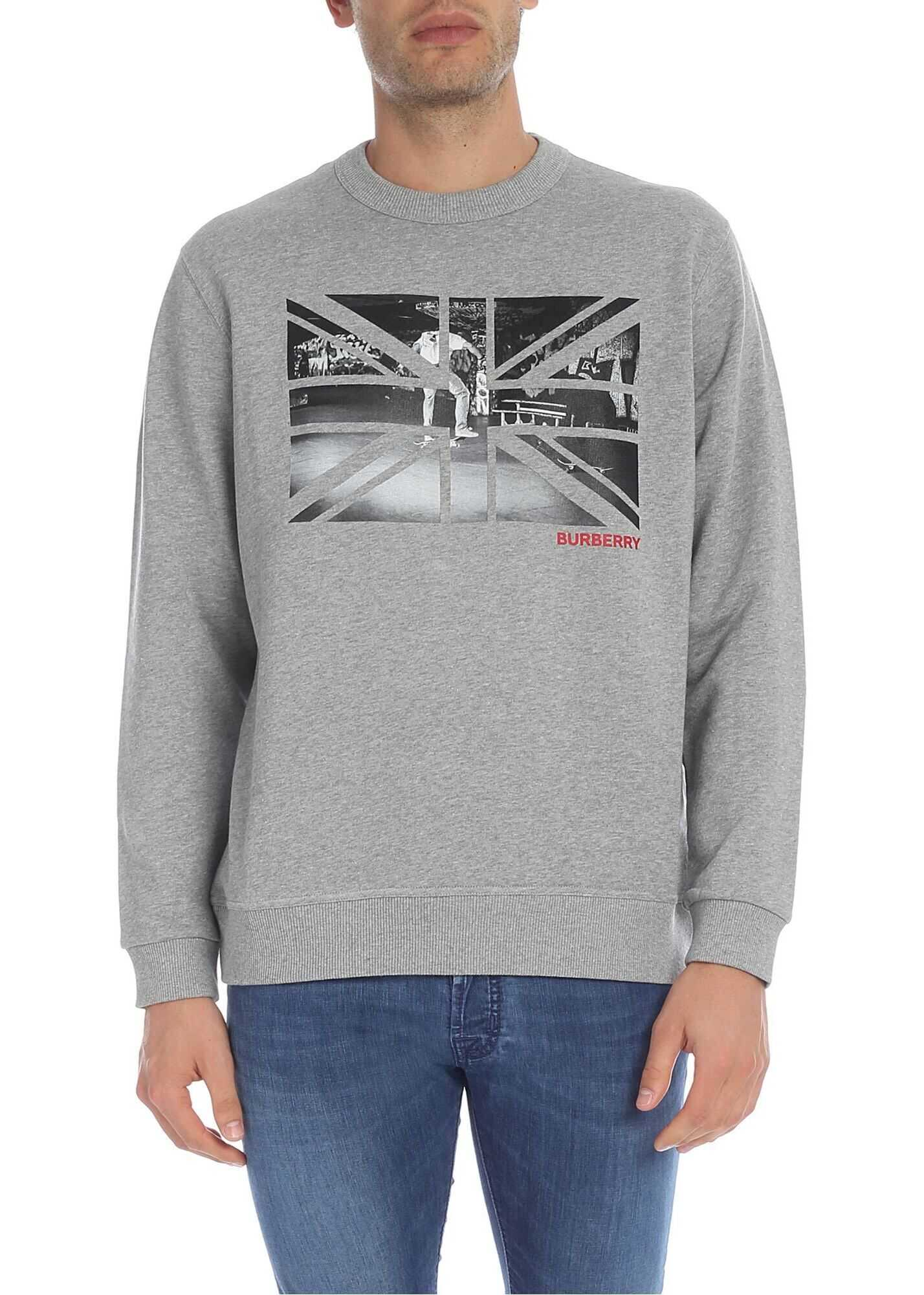 Burberry Kershaw Sweatshirt In Grey Grey