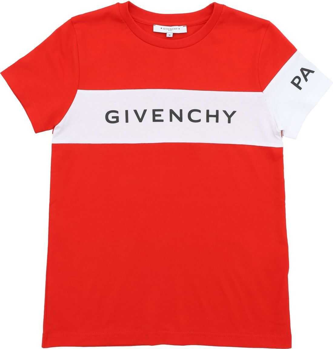 Red T-Shirt With Givenchy Paris Logo