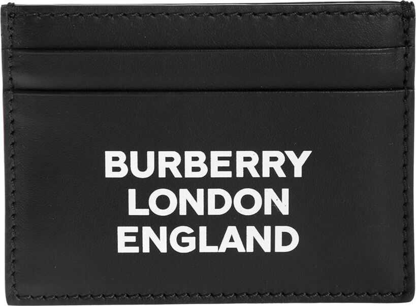 Burberry Compact Credit Card Holder With Logo Black