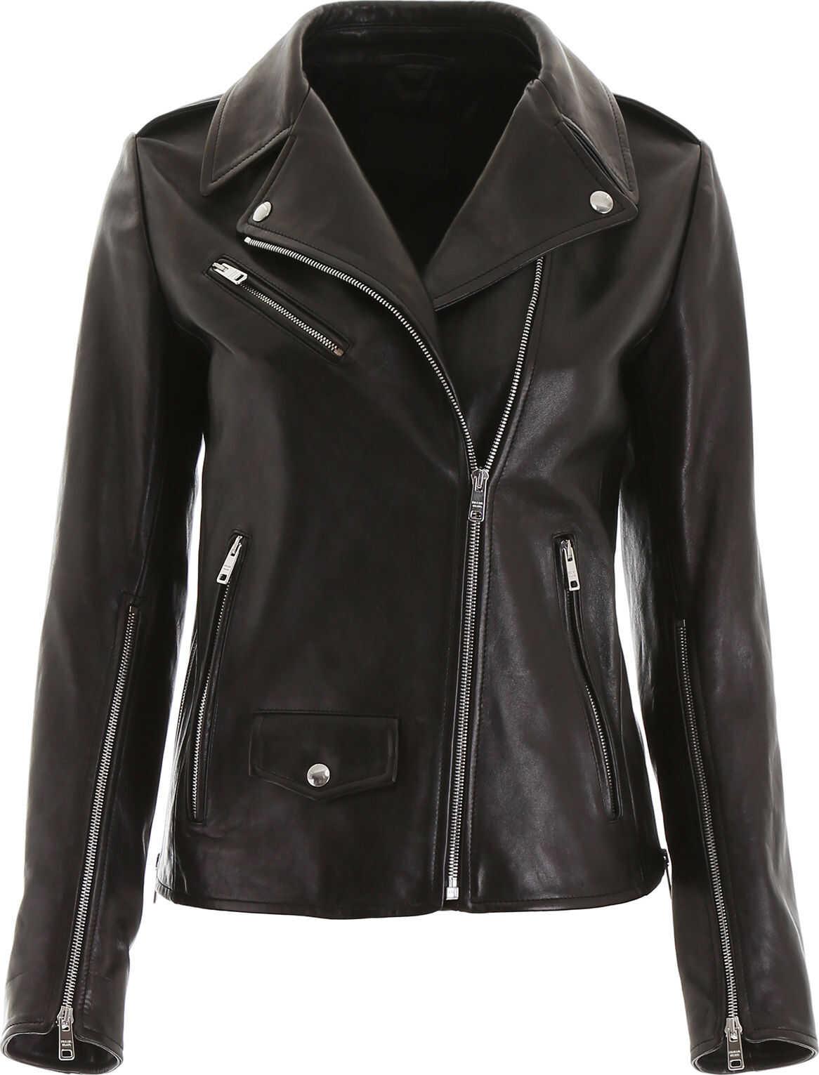 Prada Leather Jacket NERO