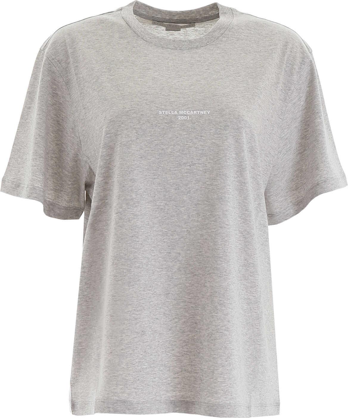 adidas by Stella McCartney Logo Print T-Shirt GREY MELANGE