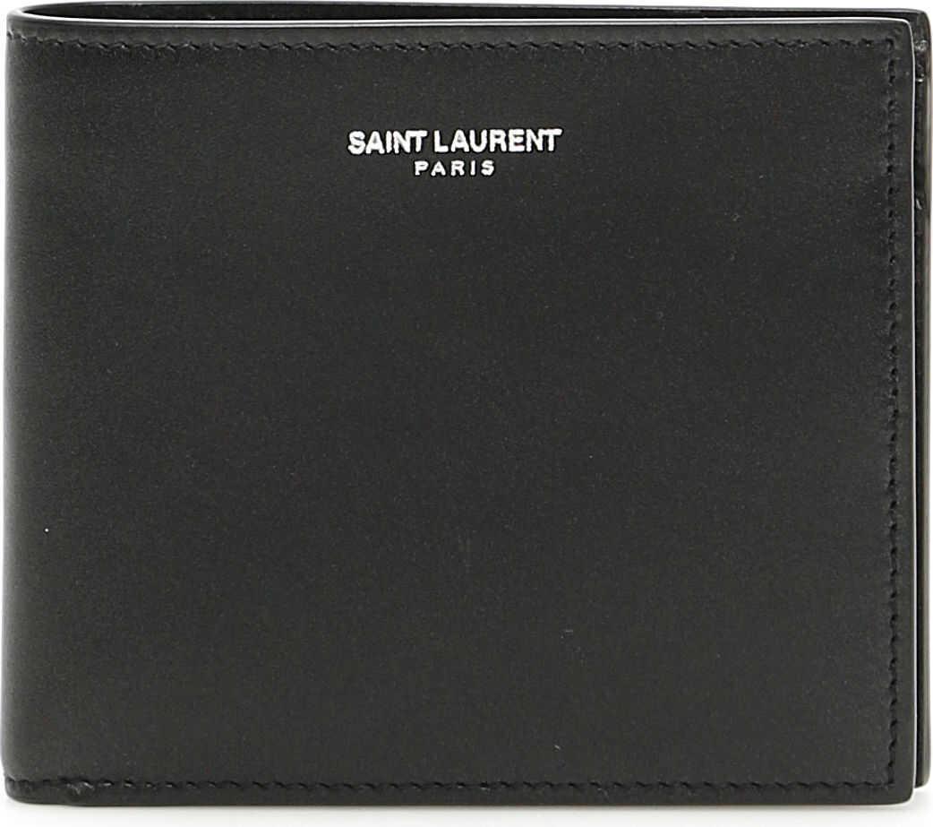 Saint Laurent Leather East West Wallet NERO