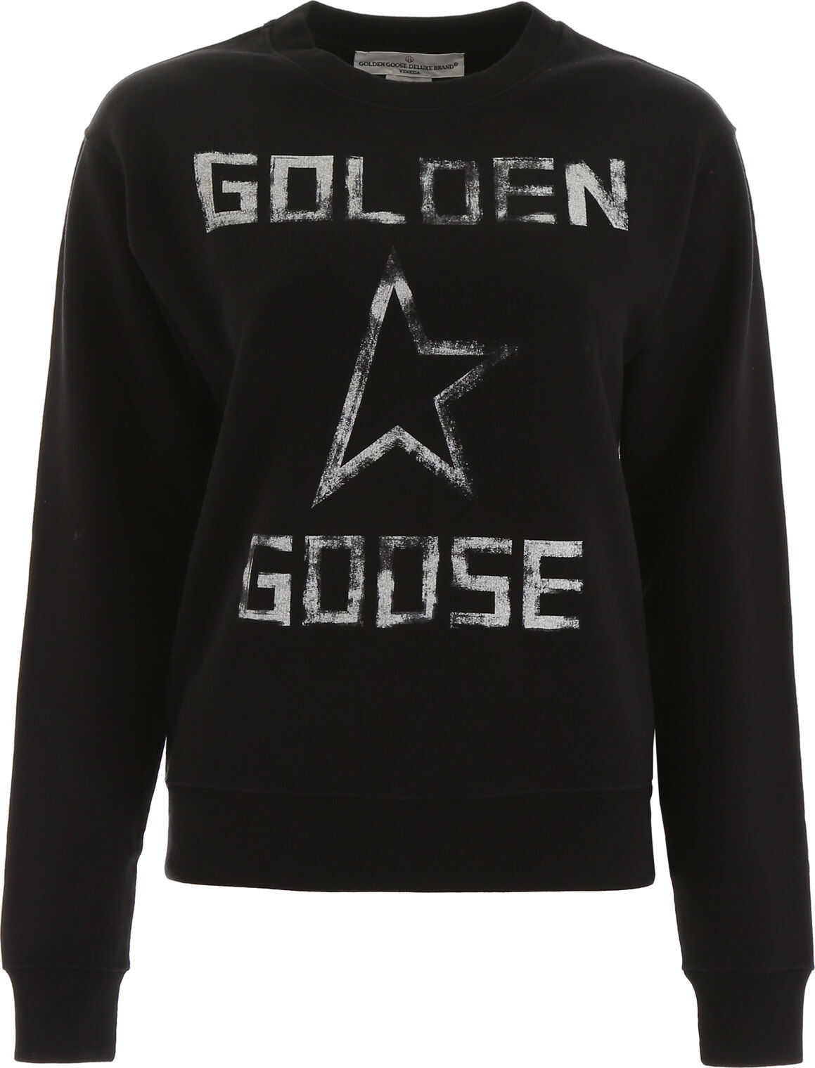 Golden Goose Logo Sweatshirt BLACK GOLDEN GOOSE STAR