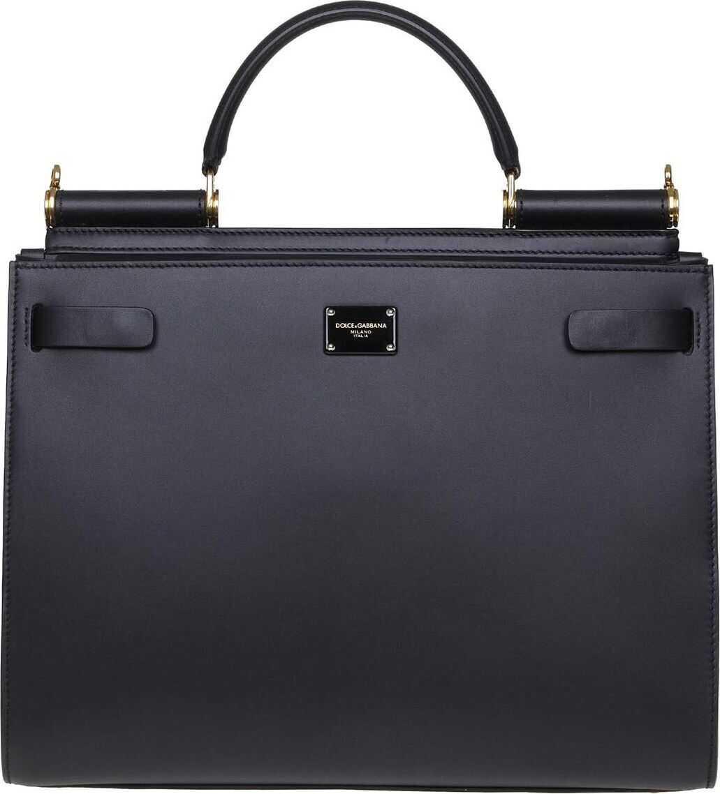 Dolce & Gabbana Sicily 62 Large Bag In Black Black