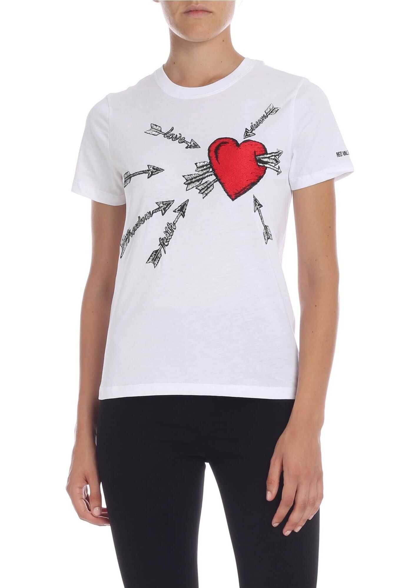 Love Embroidery T-Shirt In White